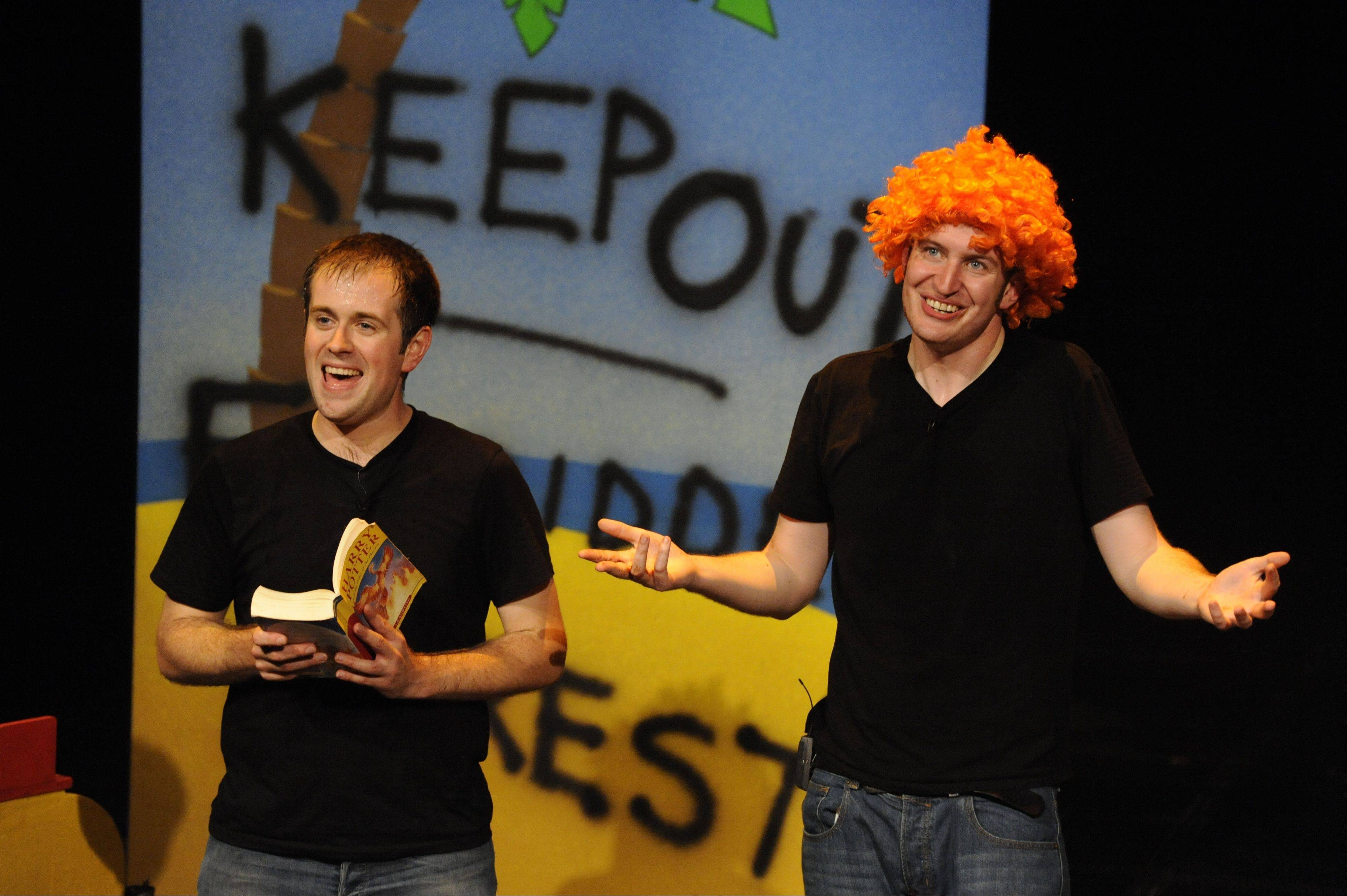"Jeff Turner, left, and Daniel Clarkson act out key moments from all seven Harry Potter books for ""Potted Potter: The Unauthorized Harry Potter Experience -- A Parody by Dan and Jeff."" It comes to the Broadway Playhouse at Water Tower Place on Nov. 13."