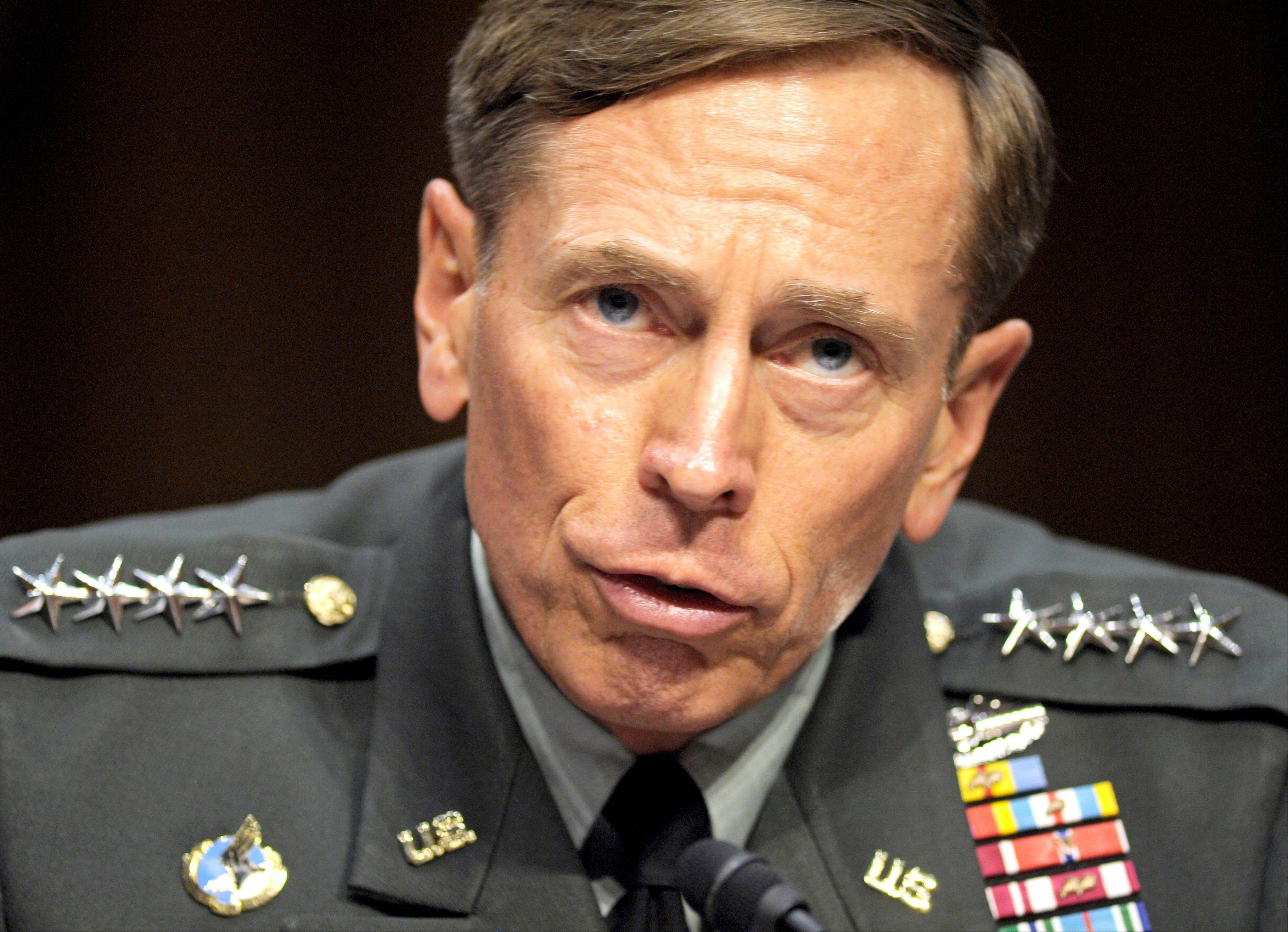 Then-CIA Director-desigate Gen. David Petraeus testifies on Capitol Hill in Washington.