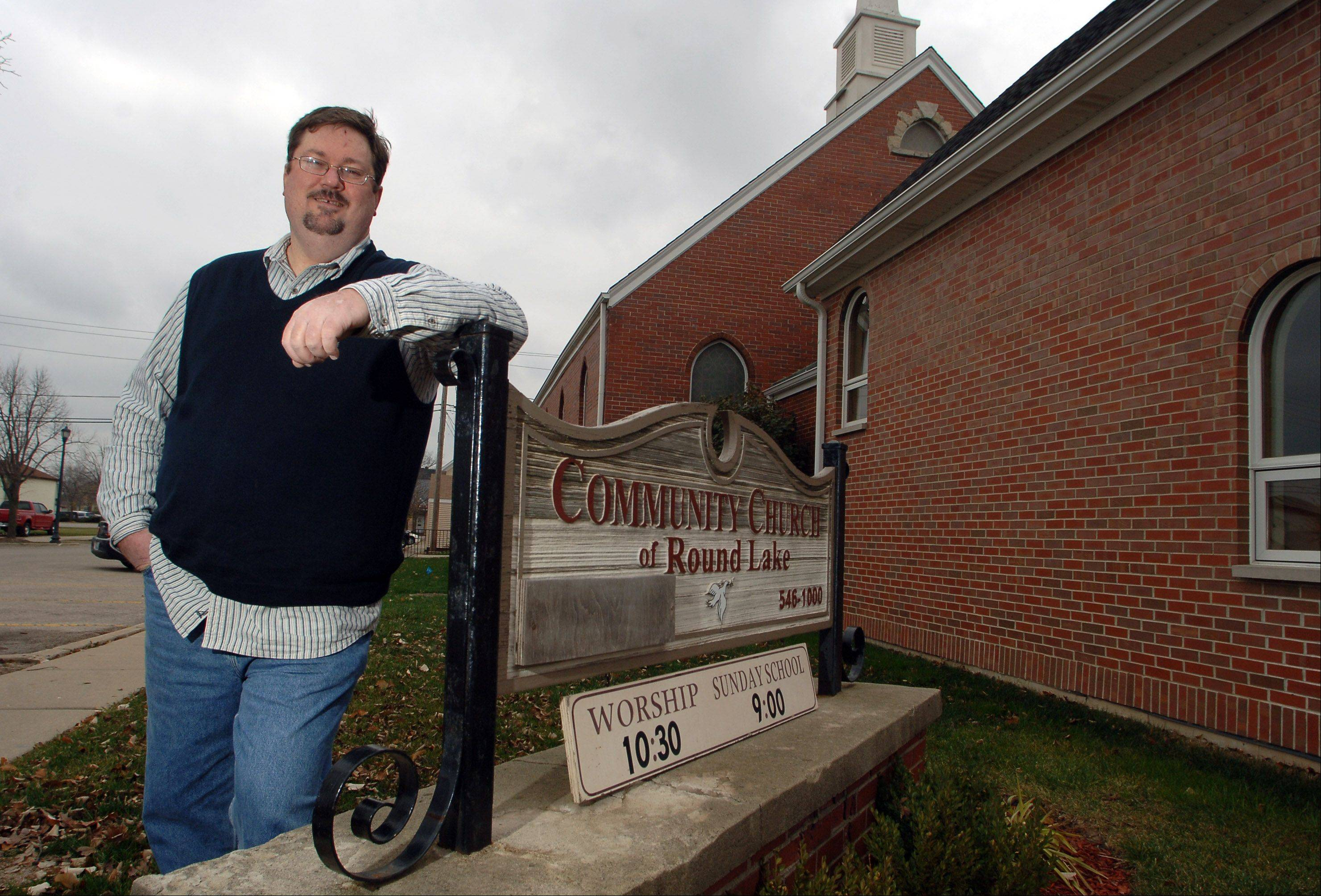 Pastor Mark Drinnenberg will oversee Community Church of Round Lake's 80th anniversary celebration on Sunday.