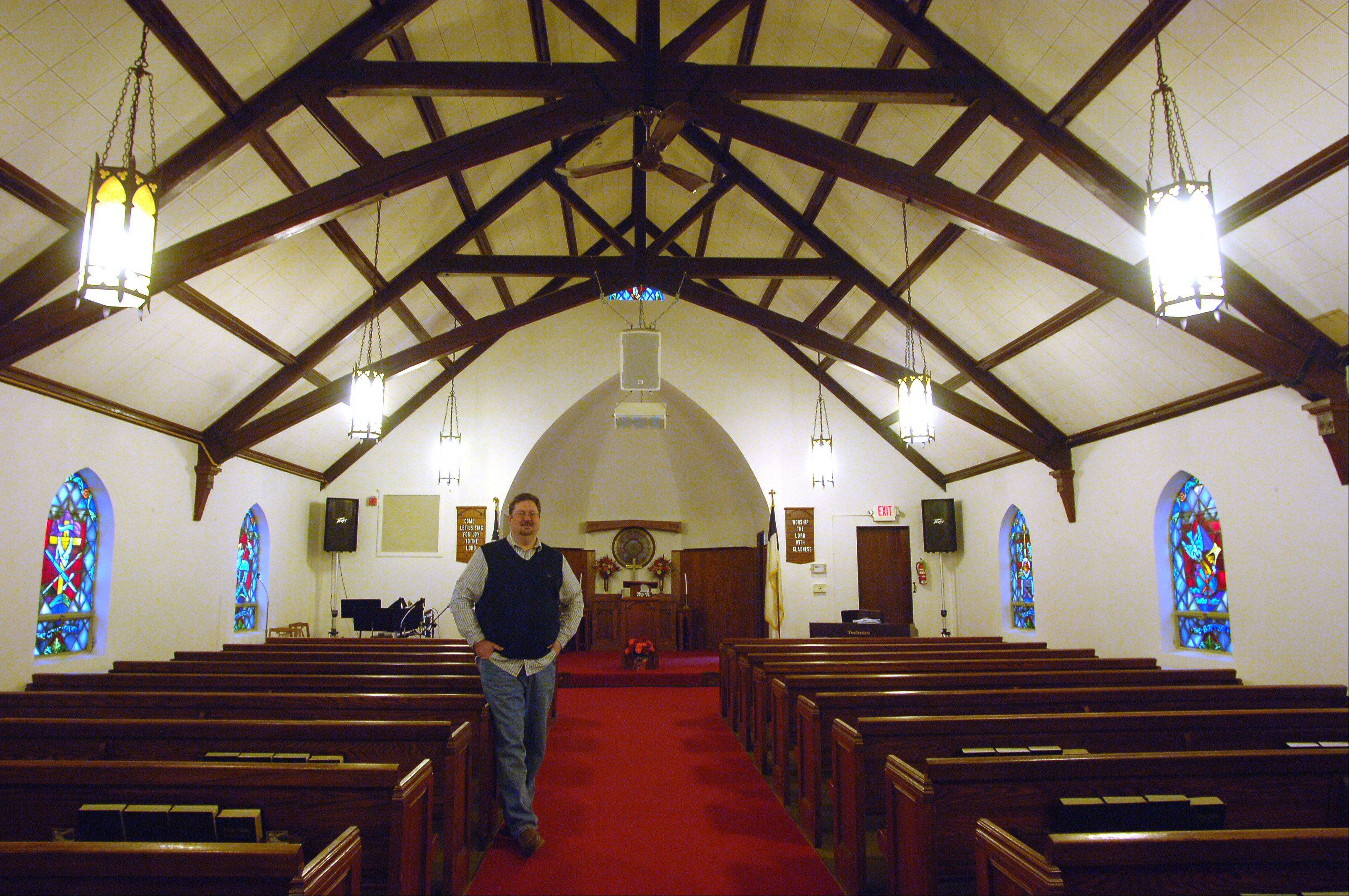 The Community Church of Round Lake will celebrate it's 80th anniversary on Sunday. Pastor Mark Drinnenberg is new to the church this year.