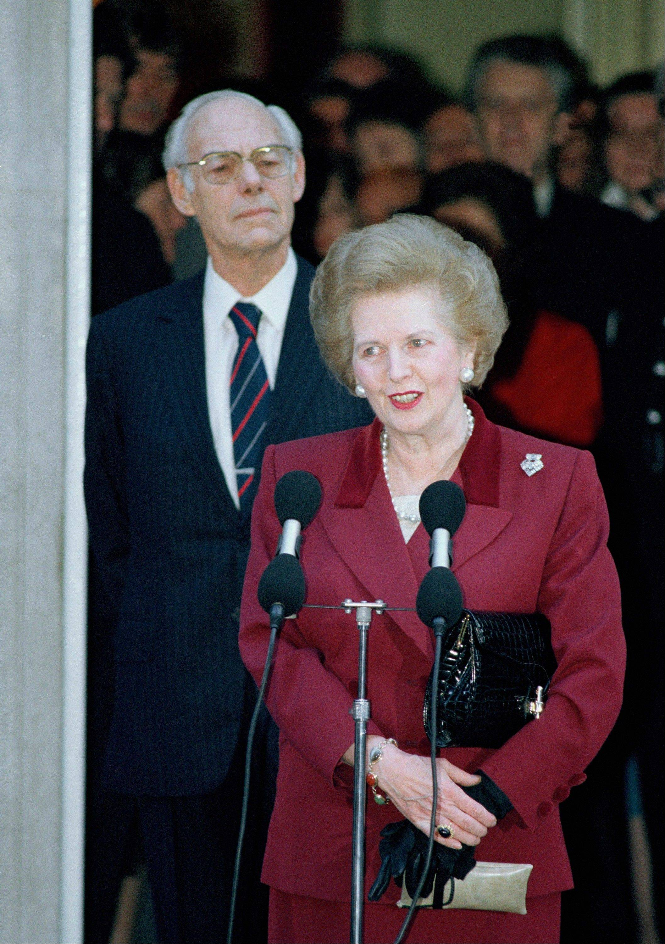 The enduring image of Margaret Thatcher's departure from office is the tearful face captured by photographers in 1990 as she left the prime minister's official residence at 10 Downing Street for the last time after 11 years as prime minister.