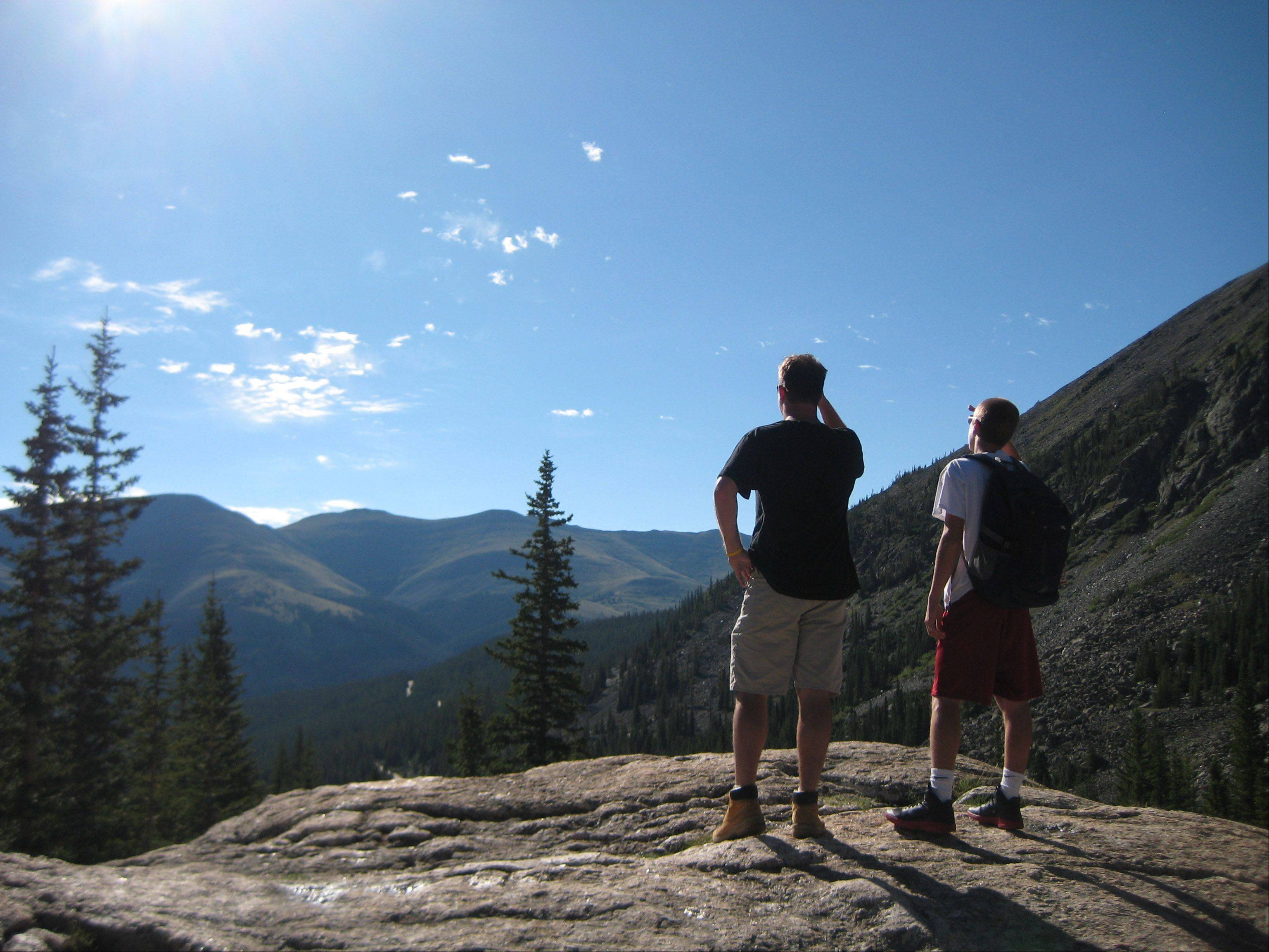 This picture was taken during our 2012 summer vacation to Breckenridge, Colorado while hiking one of their beautiful trails. My sons Scott and Keith Hedges are in the picture.