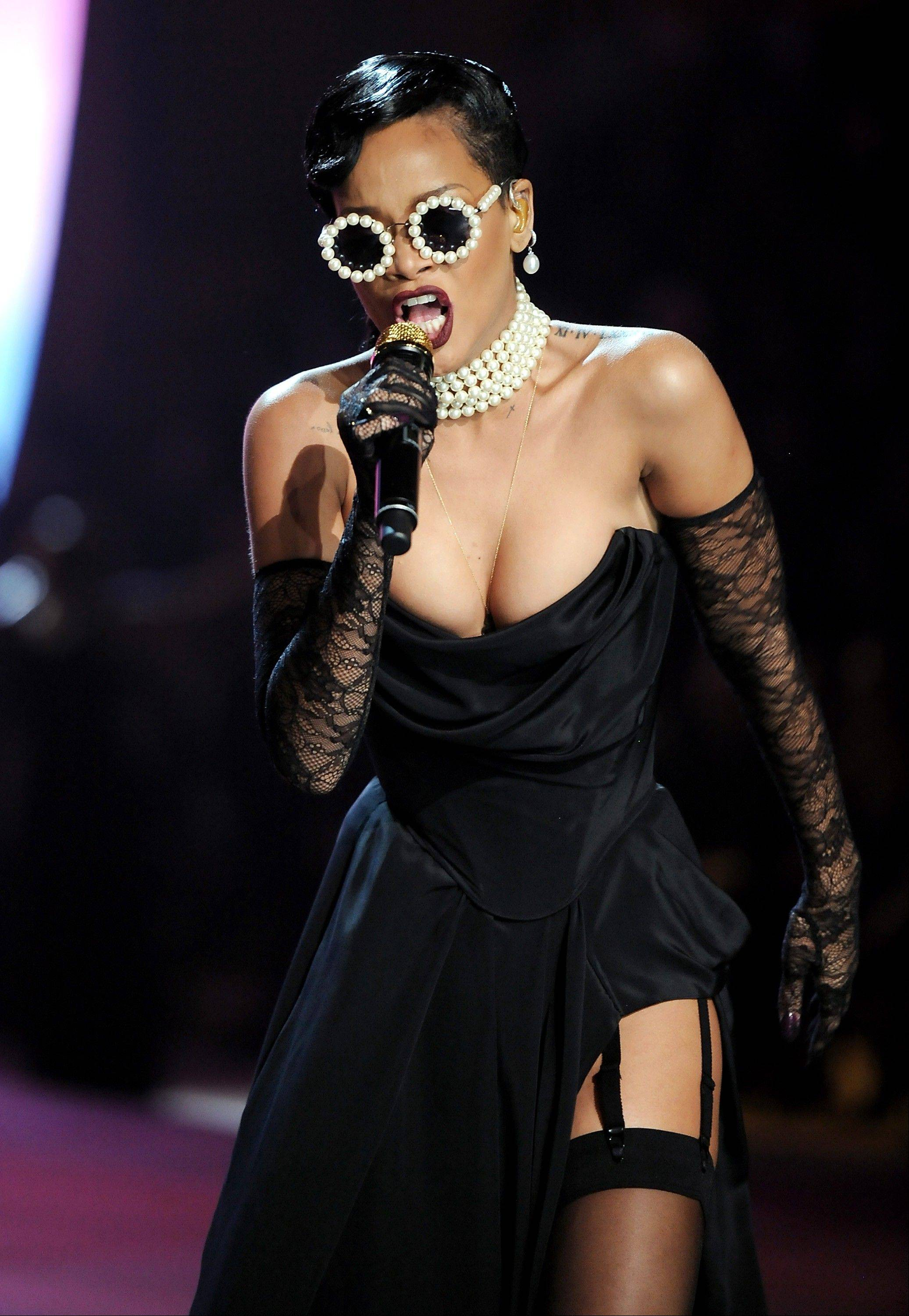 Singer Rihanna performs during the 2012 Victoria�s Secret Fashion Show on Wednesday Nov. 7, 2012 in New York.