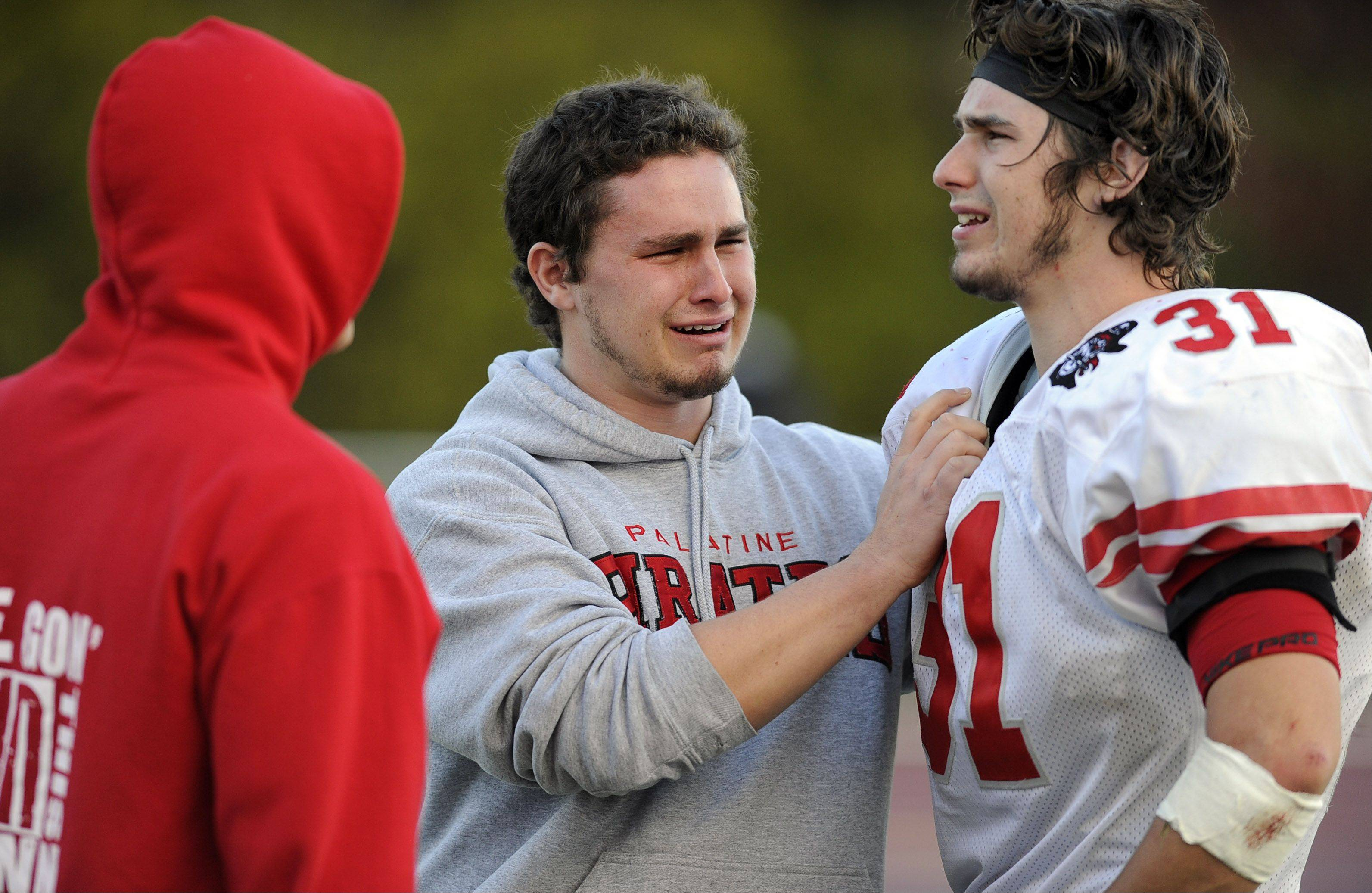 Palatine�s Jesse Bobbit and his brother react after losing to Loyola.