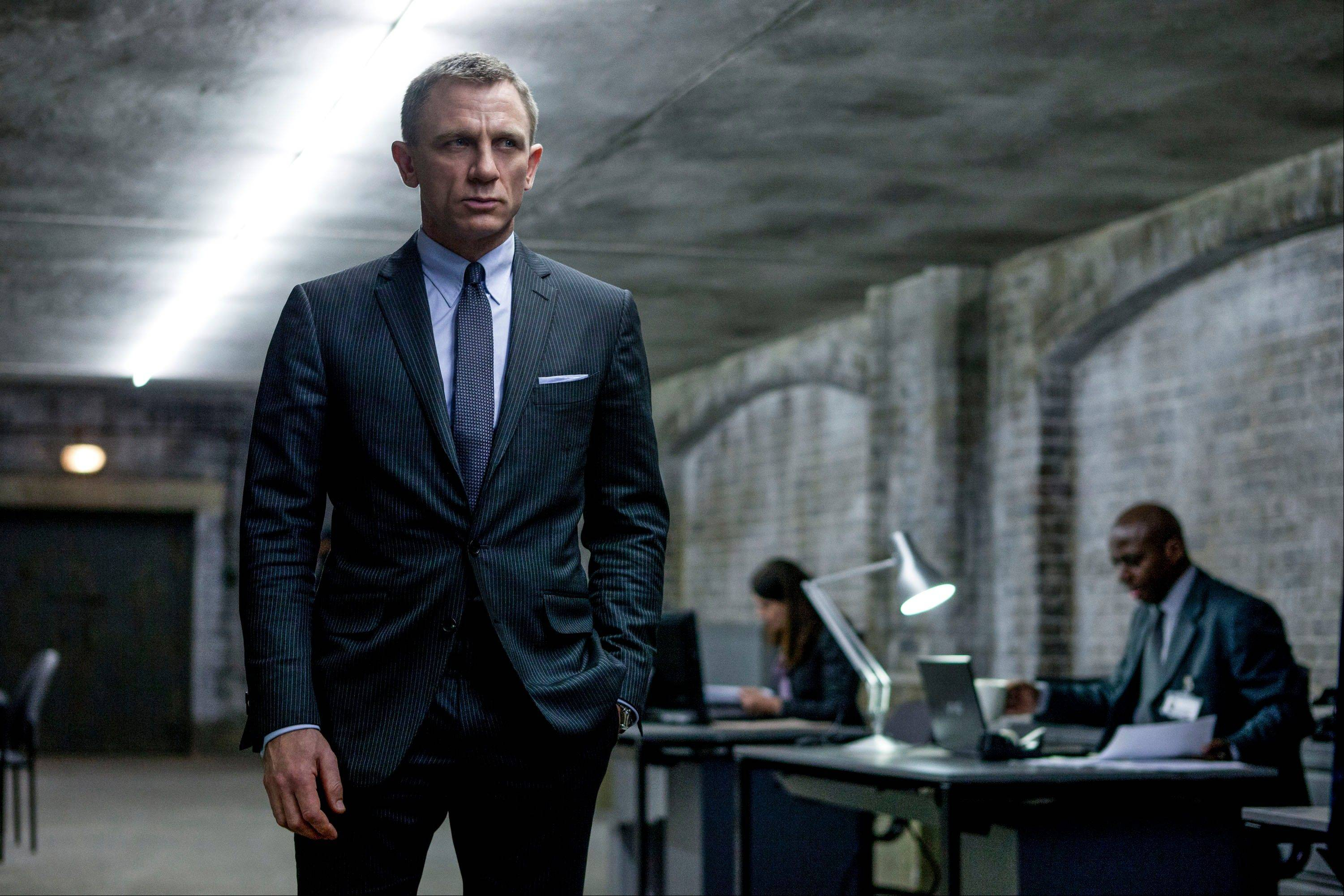 "This film image released by Sony Pictures shows Daniel Craig in a scene from the film ""Skyfall."" The super spy might be 50 years old on screen but he never wants to look out of date. It's a unique dressing challenge for a character that is simultaneously modern and timeless. Costume designer Jany Temime says her mantra for the entire wardrobe of ""Skyfall."""