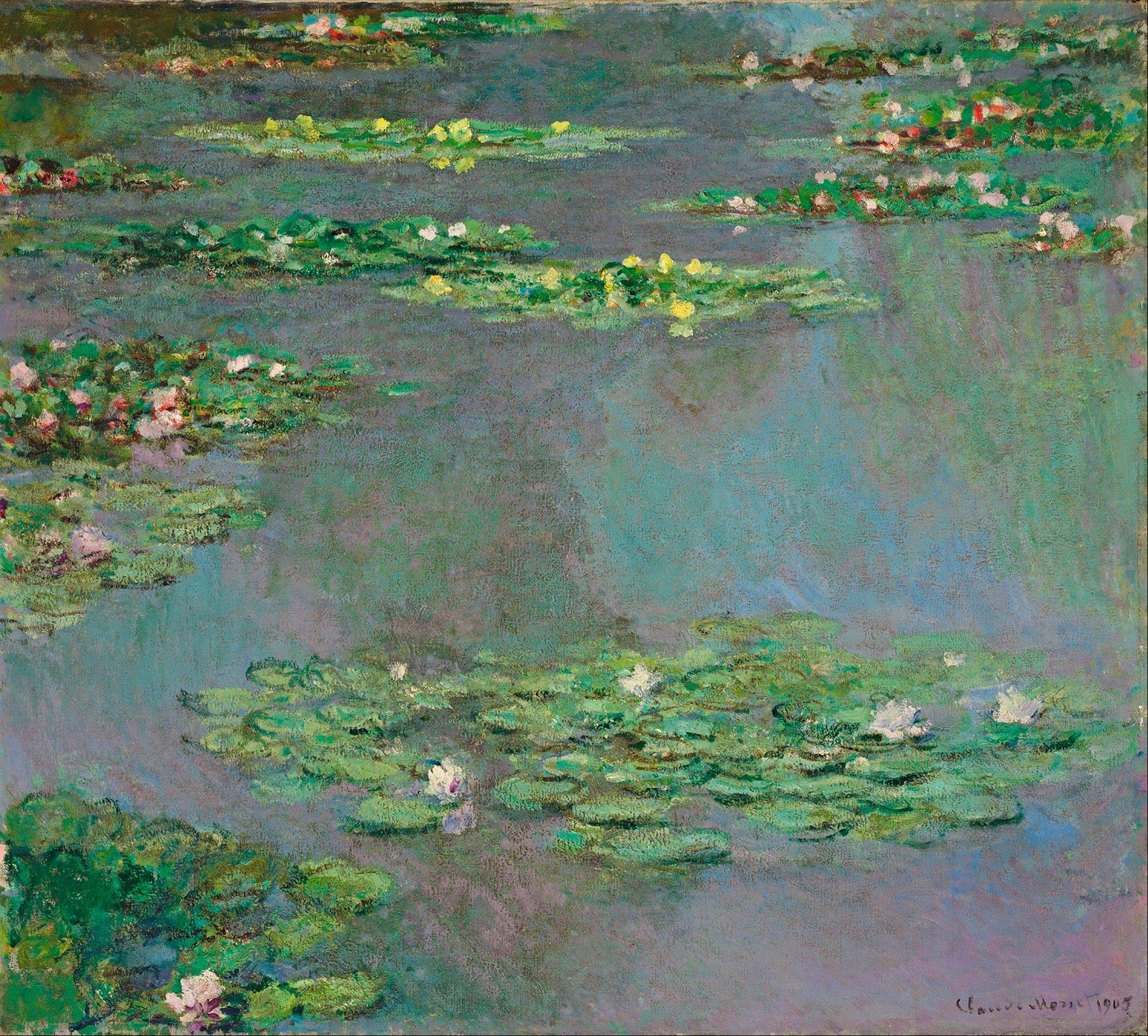 "This image provided by Christie's Images, Ltd, in New York, Friday Nov. 9, 2012, shows a work from Claude Monet's ""Water Lilies"" series. The painting is from the estate of Ethel Strong Allen, widow of Wall Street executive Herbert Allen Sr., that she bequeathed to a suburban boarding school, was sold Wednesday for more than $43-million at Christie's Evening Sale of Impressionist & Modern Art."