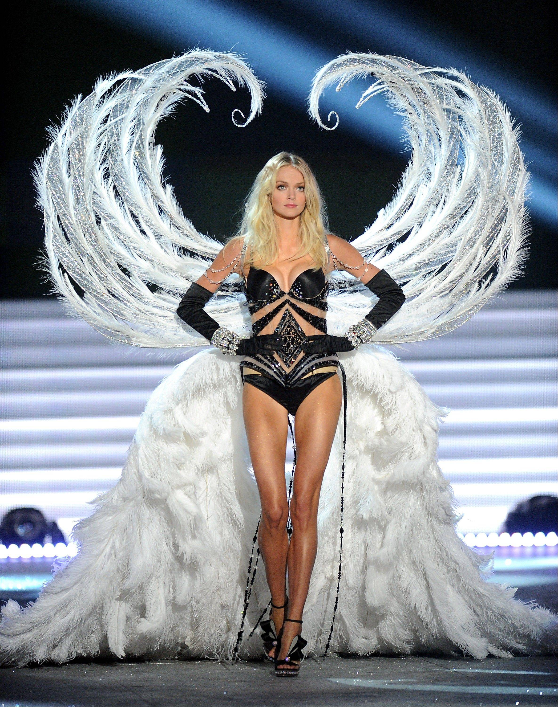 A model walks the runway during the 2012 Victoria's Secret Fashion Show.