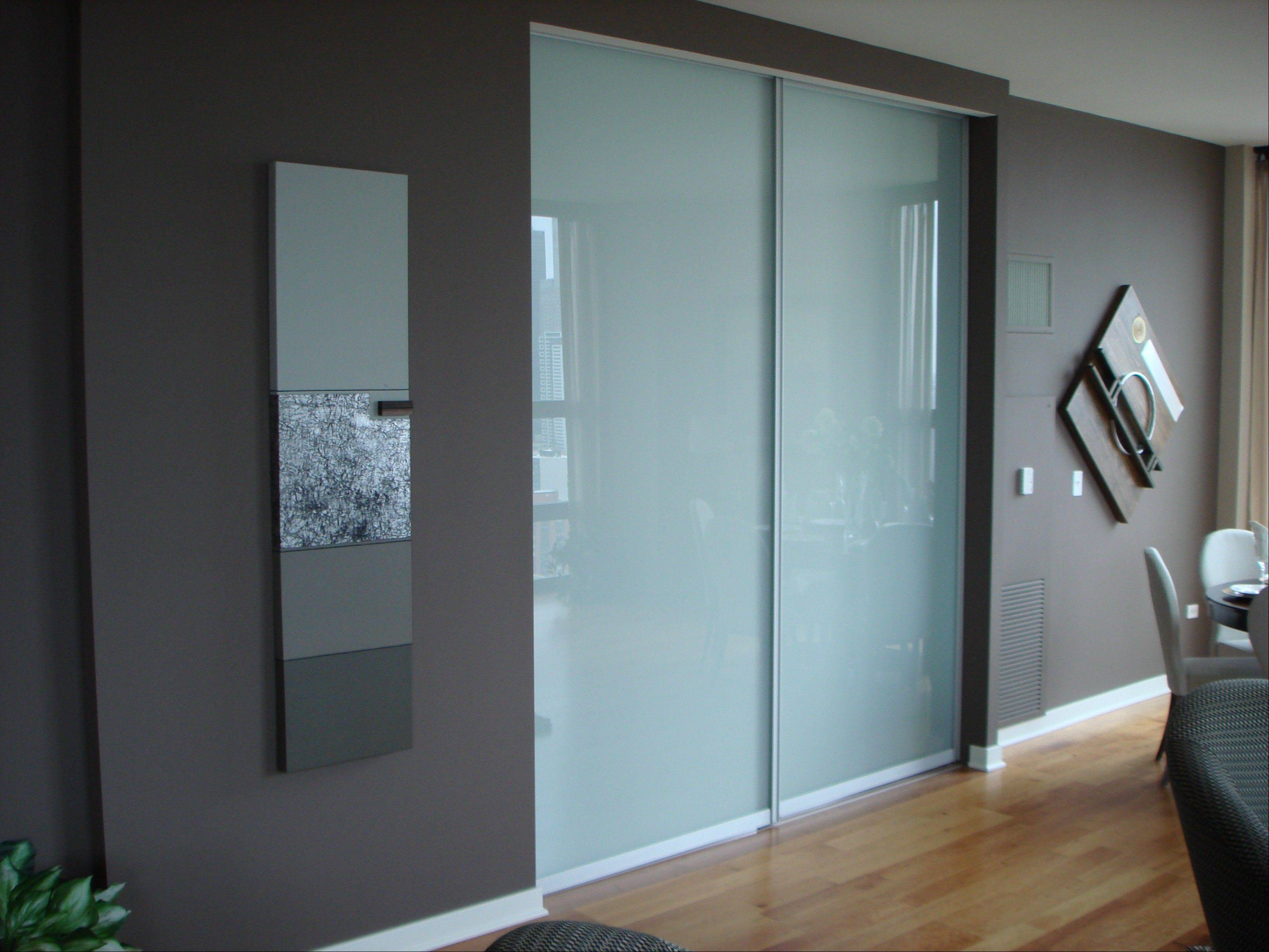 Creative Mirror and Shower makes glass pocket doors and room dividers that slide open into the wall.