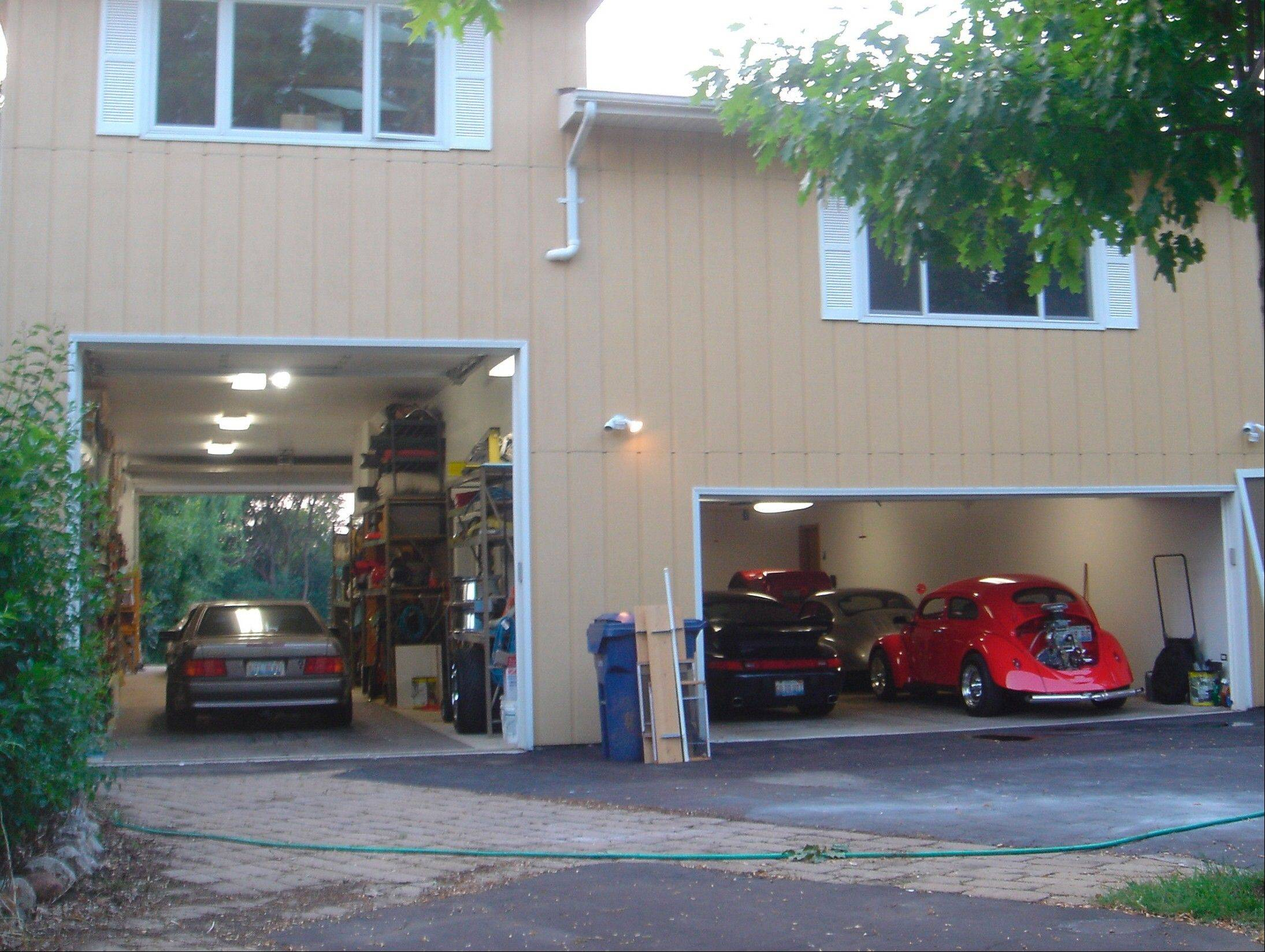 With an abundance of garage space, the home is ideal for any car collector.