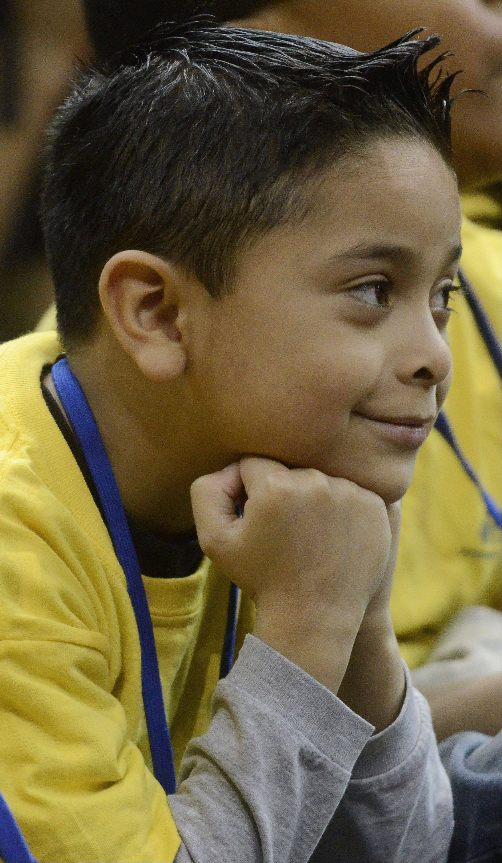 Daniel Cortez, a Rosemont Elementary School second-grader, enjoys the show.
