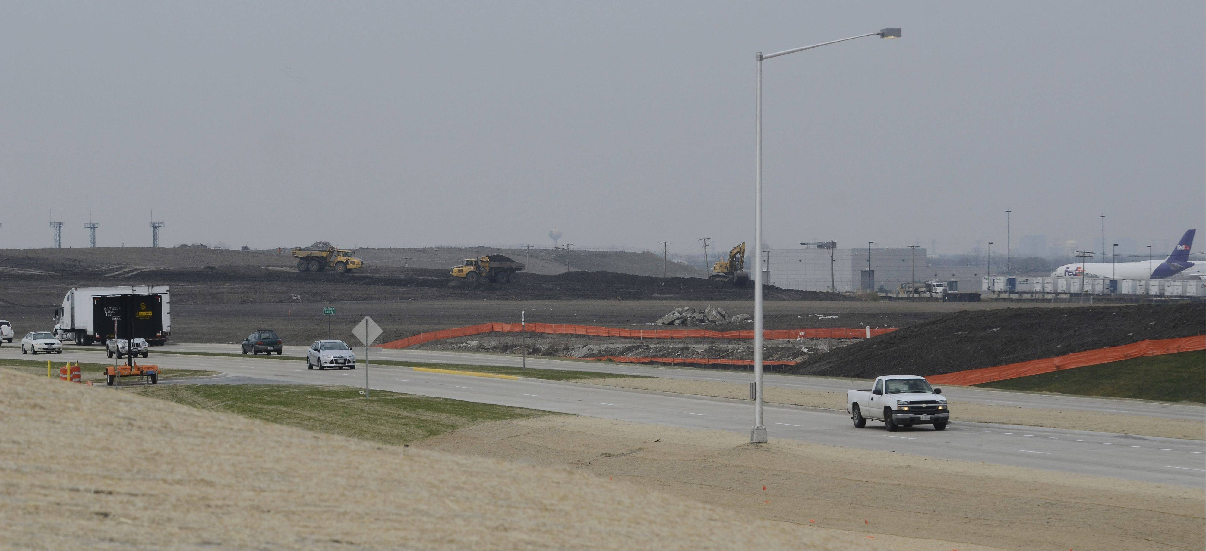 A new runway on the south side of O'Hare International Airport is set for completion next fall.