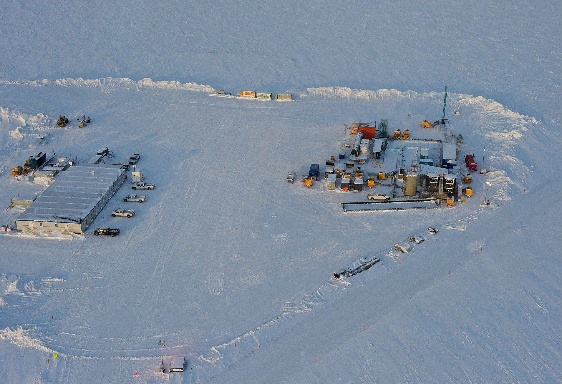 This drill rig at Prudhoe Bay on Alaska's North Slope is testing a method for extracting methane from methane hydrate. A half mile below the ground at Prudhoe Bay, above the vast oil field that helped trigger construction of the trans-Alaska pipeline, a drill rig has tapped what might one day be the next big energy source.