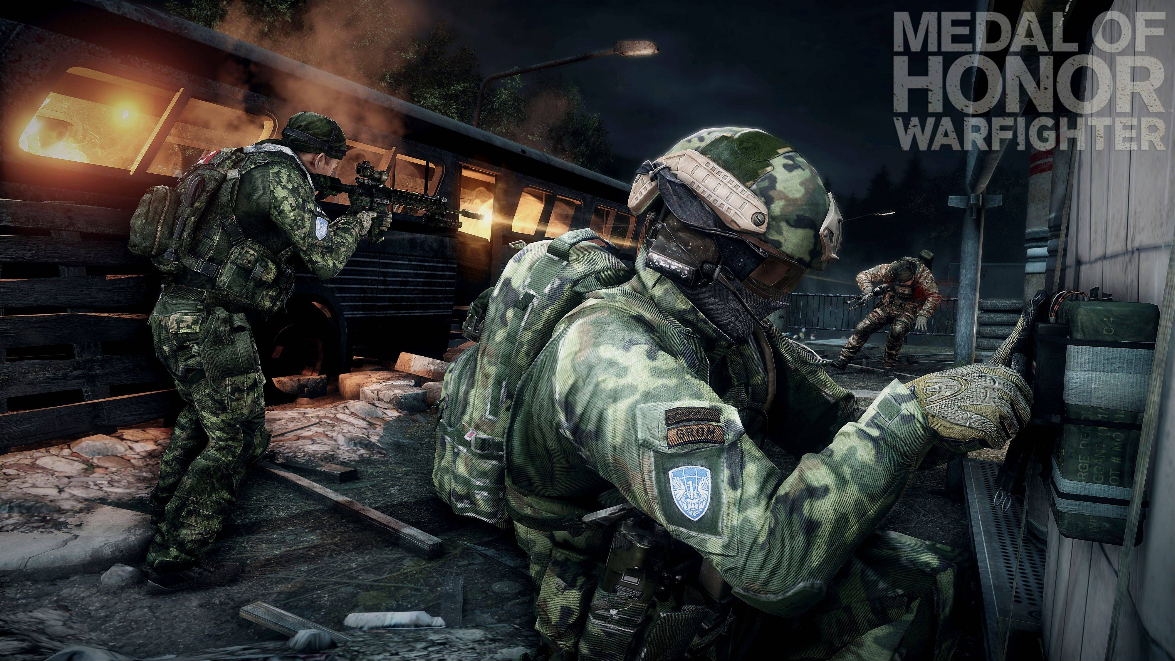 "This product image provided by Electronic Arts shows action from the video game ""Medal of Honor: Warfighter."" Seven members of the secretive Navy SEAL Team 6, including one involved in the mission to kill Osama bin Laden, have been punished for allegedly divulging classified information to the maker of the game, senior Navy officials said."