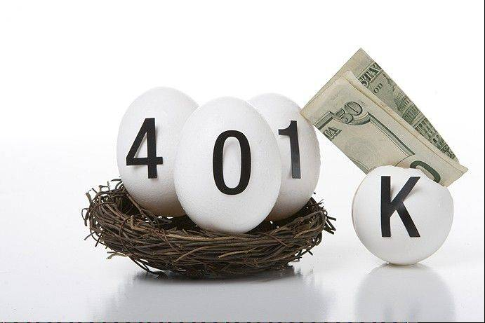 Employee 401(k) accounts grew more than 4 percent in the third quarter as a rising stock market boosted investment returns, and contributions from workers and their employers increased.
