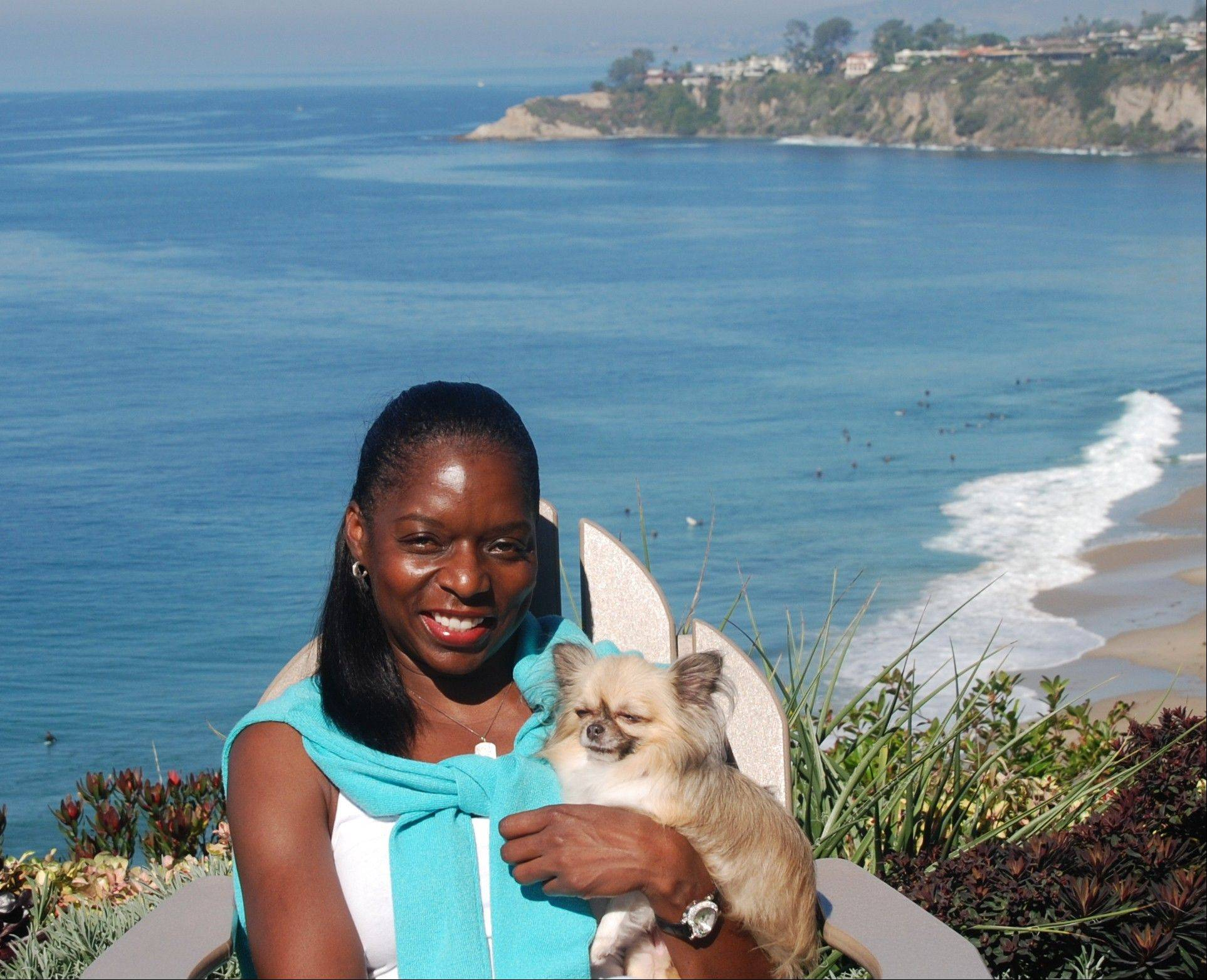 "This Oct. 28, 2011, photo provided by The Jet Set Pets shows Kelly E. Carter, founder of The Jet Set Pets, posing with her longhair Chihuahua, Lucy, at the Ritz-Carlton, Laguna Niguel in Dana Point, Calif. Travel for humans during holidays is tough enough: Long lines, crowds everywhere, extra bags full of presents. Throw a pet in the mix, and it's a recipe for disaster. ""Some dogs don't like to travel, some love it,"" she said. ""You have to know your pet."""