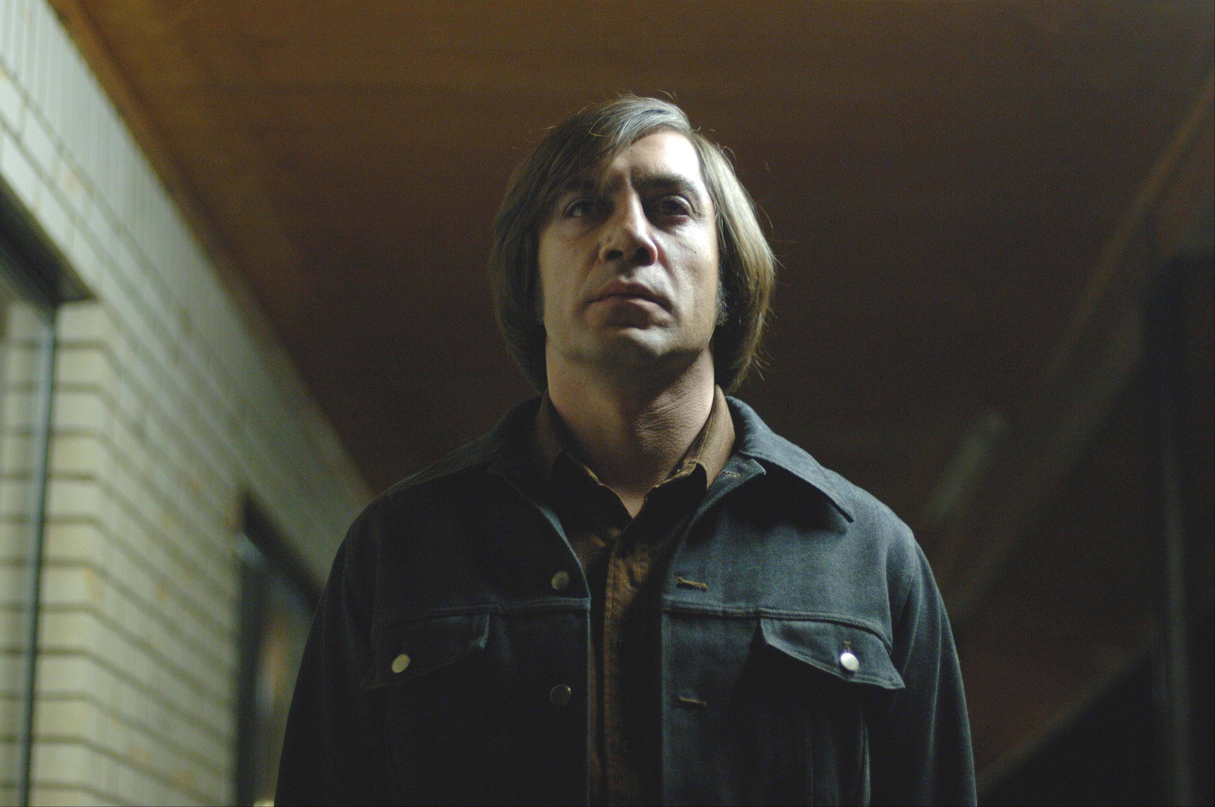 "This undated publicity file photo released by Miramax shows actor Javier Bardem as Anton Chigurh in a scene from ""No Country for Old Men."""
