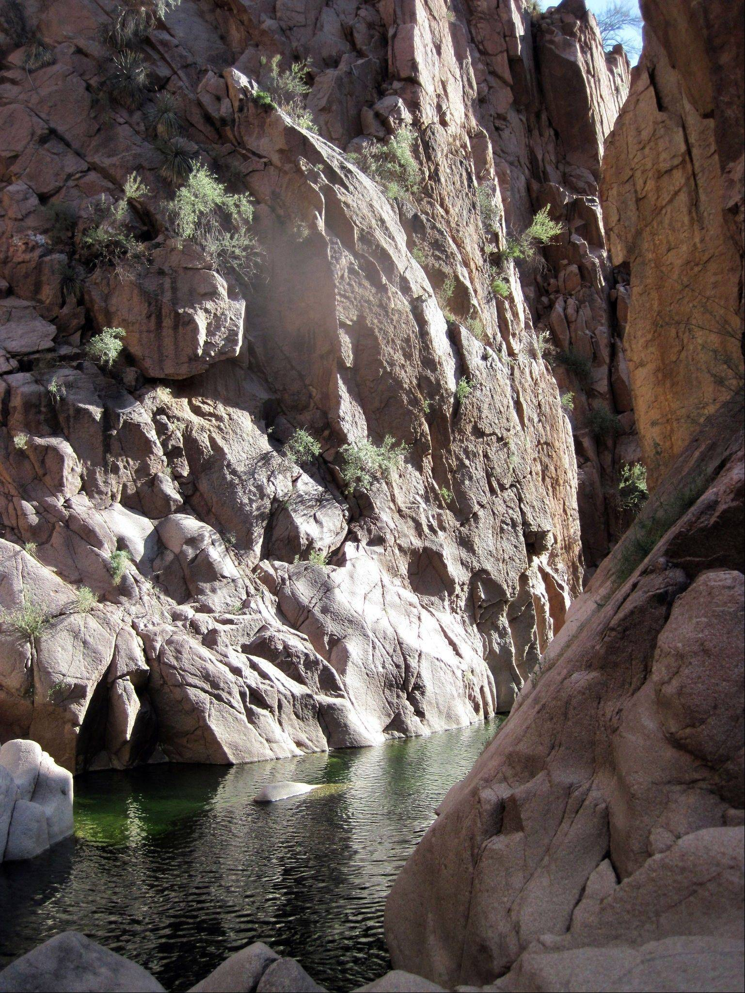 Salome Creek in Salome Canyon is a popular destination for canyoneering.