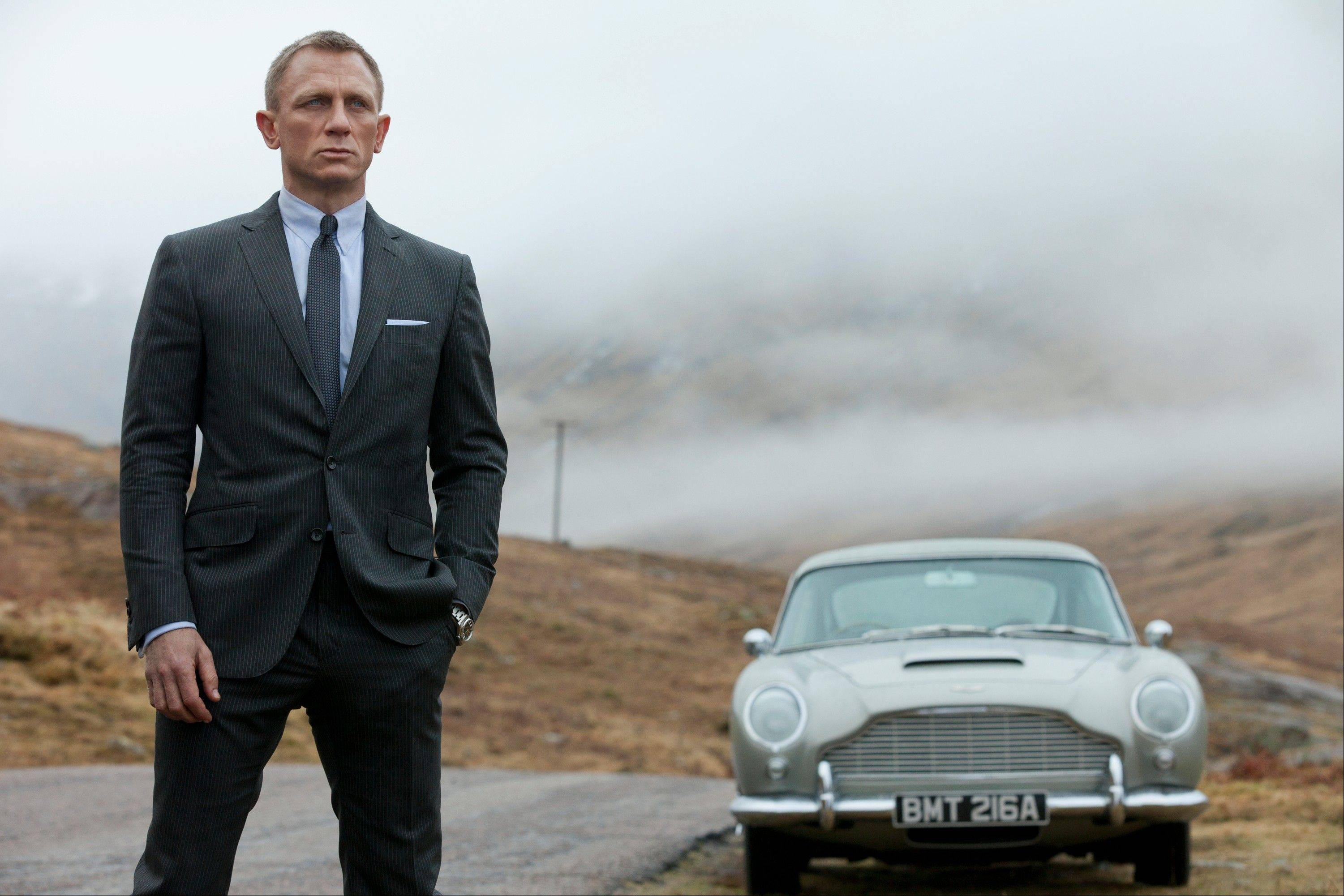 "This film image released by Columbia Pictures shows Daniel Craig as James Bond in the action adventure film, ""Skyfall,"" which in its first weekend of release in the US made nearly $90 million."