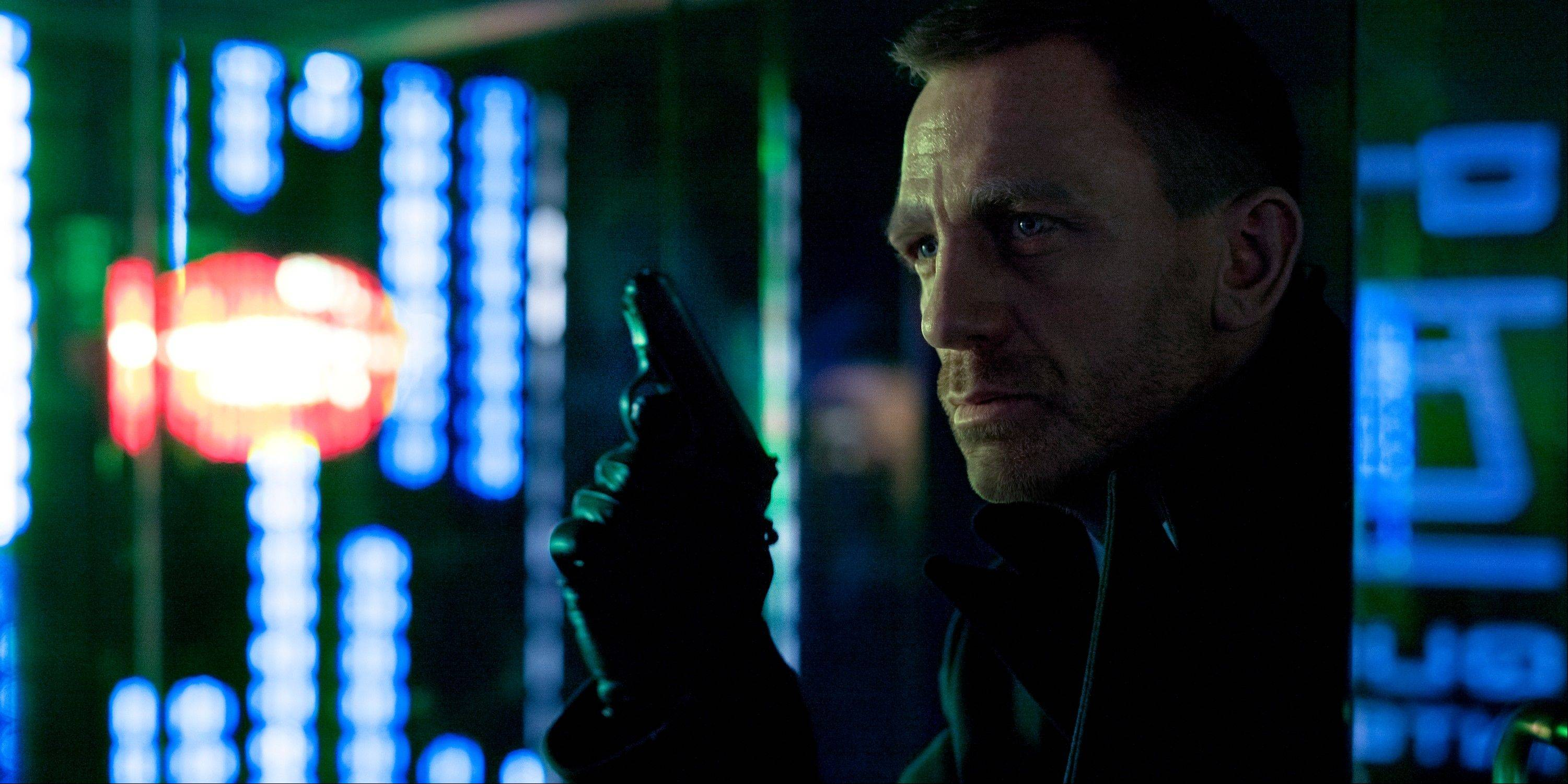 "In this image released by Sony Pictures, Daniel Craig portrays James Bond in a scene from ""Skyfall."""