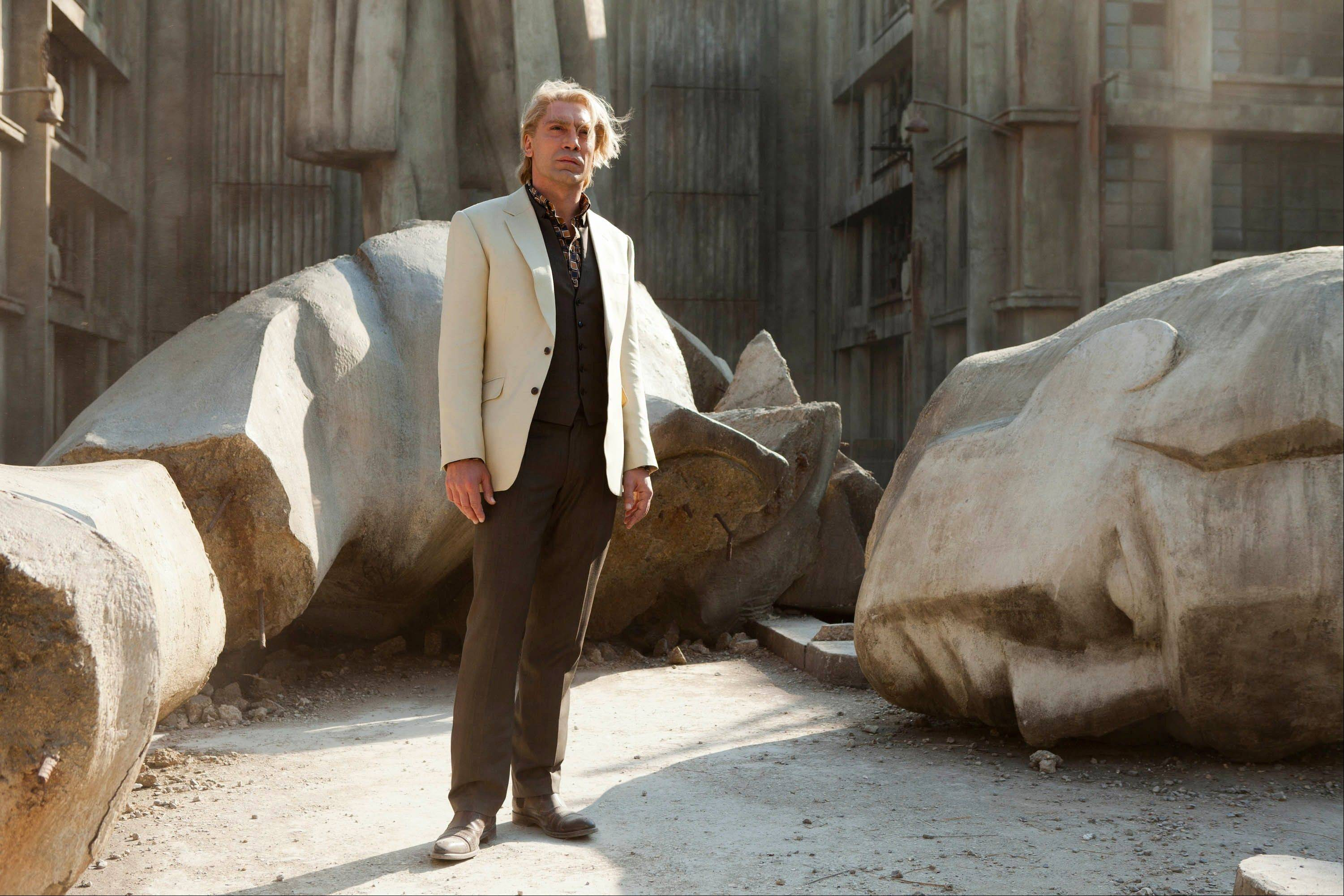 "This film image released by Sony Pictures shows Javier Bardem in a scene from the film ""Skyfall."" Bardem portrays, Raoul Silva, one of the finest arch-enemies in the 50-year history of Bond films."