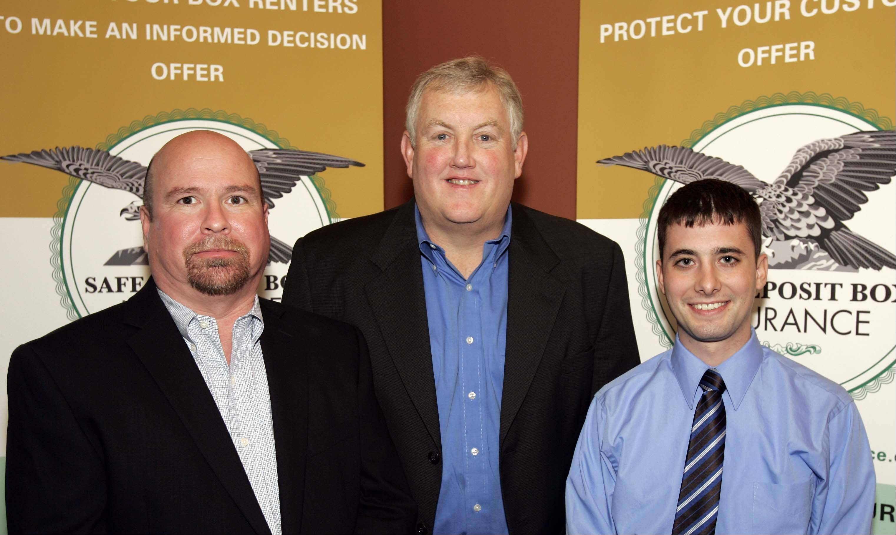 Mark Mason, left, Jerry Pluard, and Mike Bolahan, of Safe Deposit Box Insurance LLC.
