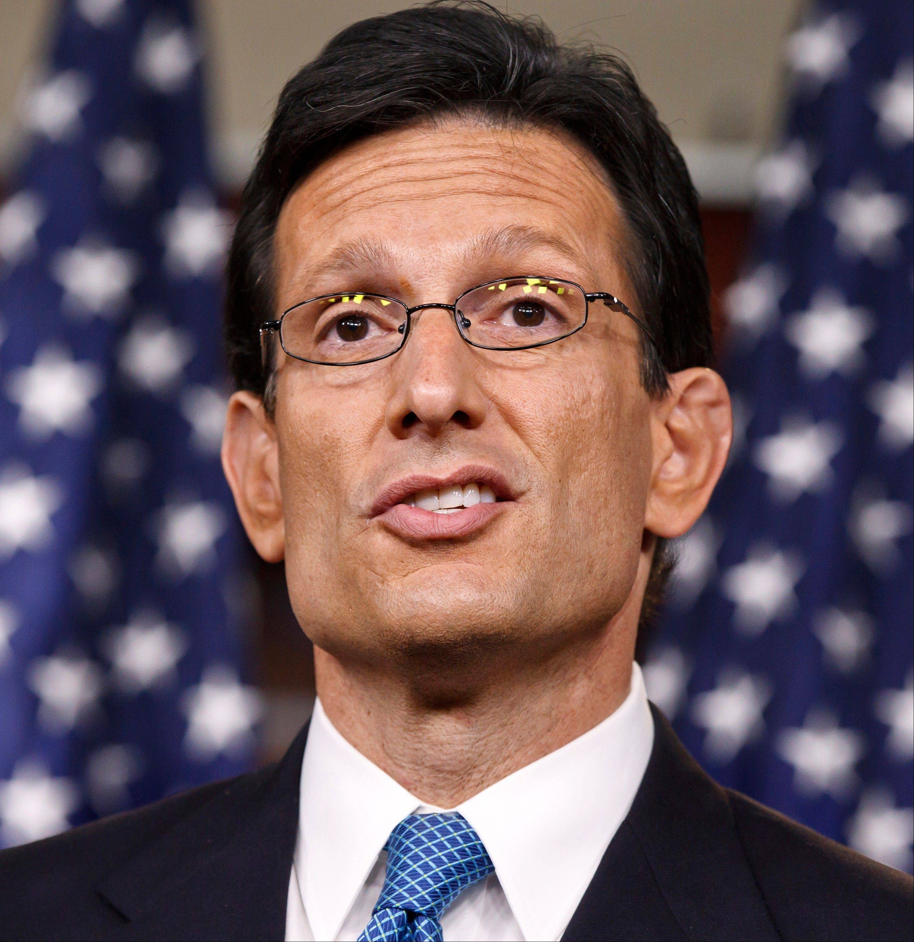 House Majority Leader Eric Cantor first heard about CIA Director David Petraeus' extramarital affair Saturday, Oct. 27, from an FBI source he didn't know, according to an aide in Cantor's office.
