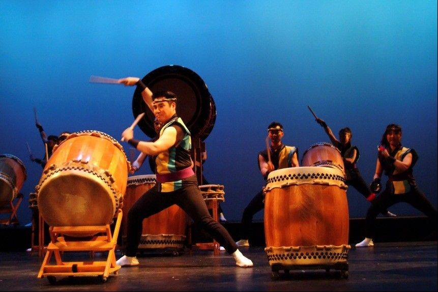 San Jose Taiko will join the traditional rhythms of Japanese drumming with the beat of world rhythms in concert on Nov. 18 at ECC.