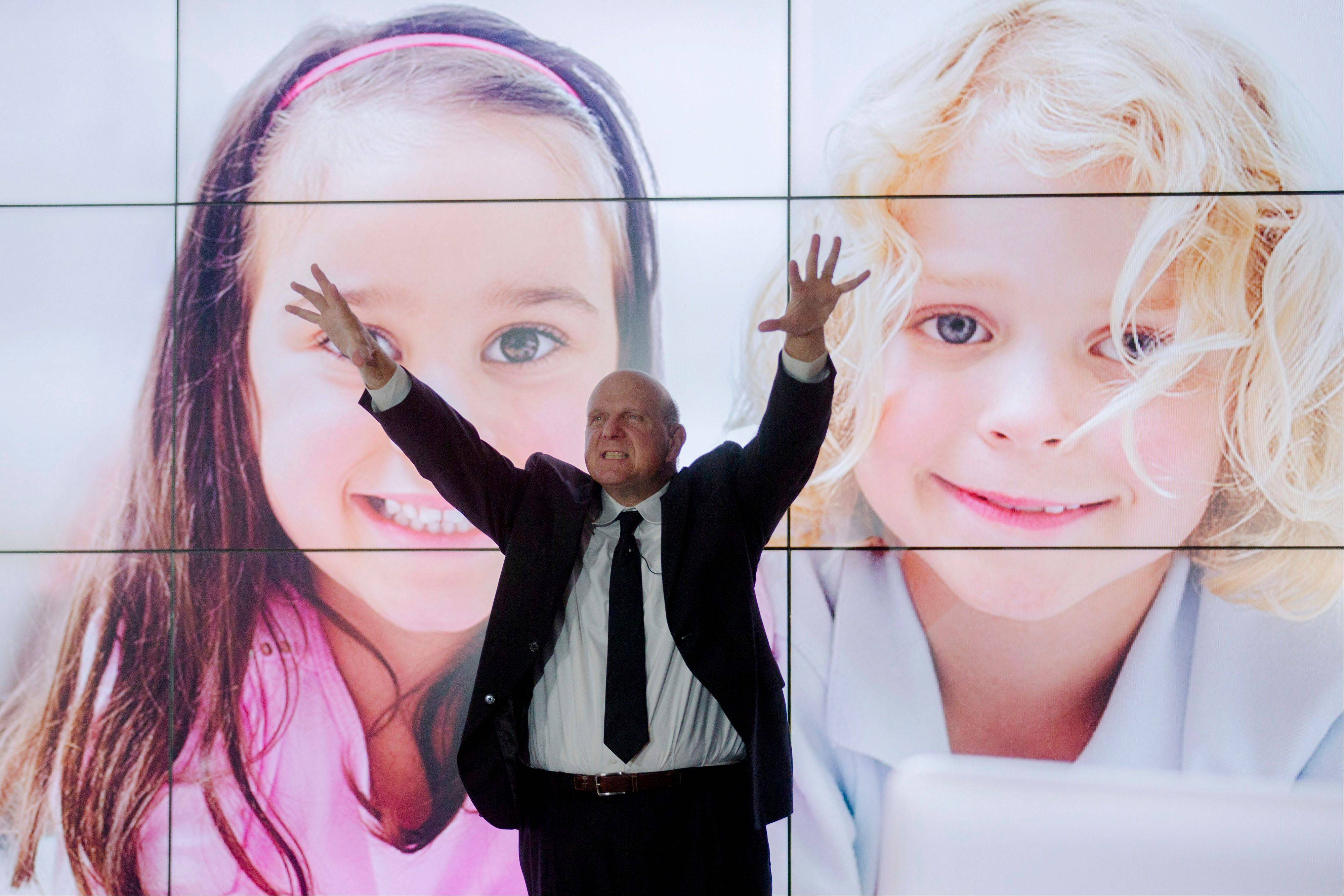 Microsoft CEO Steve Ballmer helped launch the Windows 8 operating system in Berlin last Thursday.