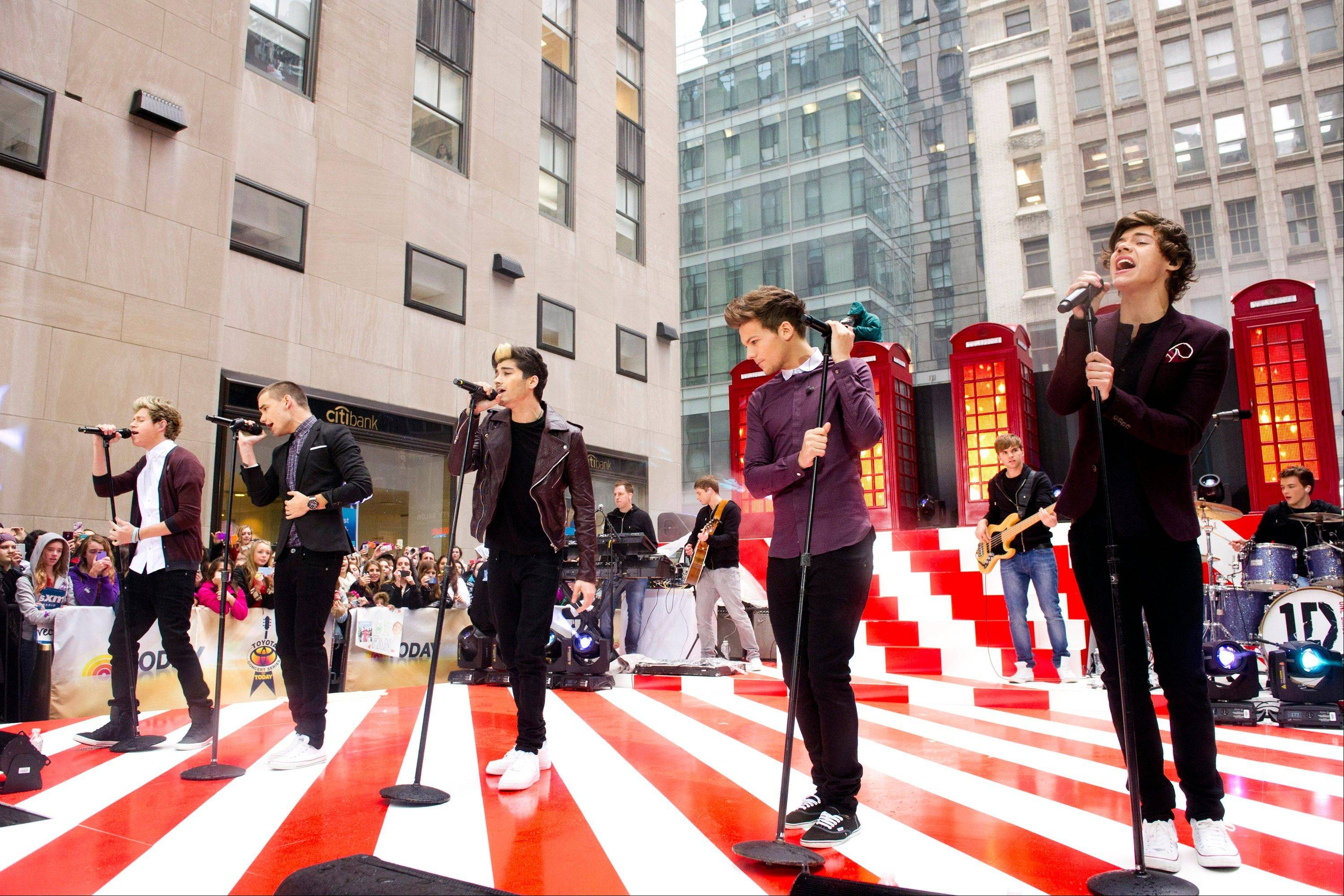 One Direction members, from left, Niall Horan, Liam Payne, Zayn Malik, Louis Tomlinson and Harry Styles will be featured in a 3-D film.