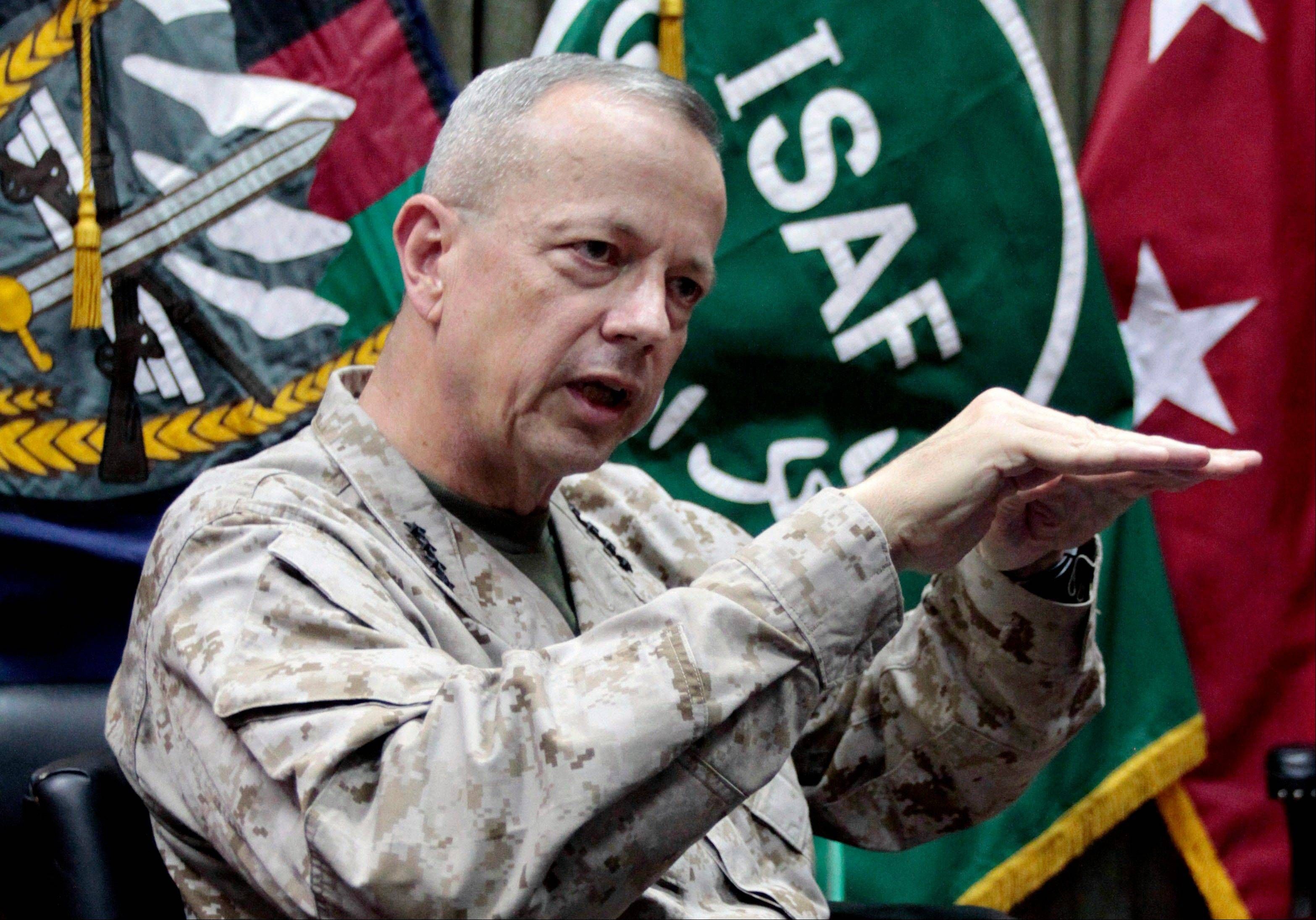 "The Pentagon says Gen. John Allen is under investigation for alleged ""inappropriate communications"" with Jill Kelley, the woman who is said to have received threatening emails from Paula Broadwell, the woman with whom former CIA Director David Petraeus had an extramarital affair."