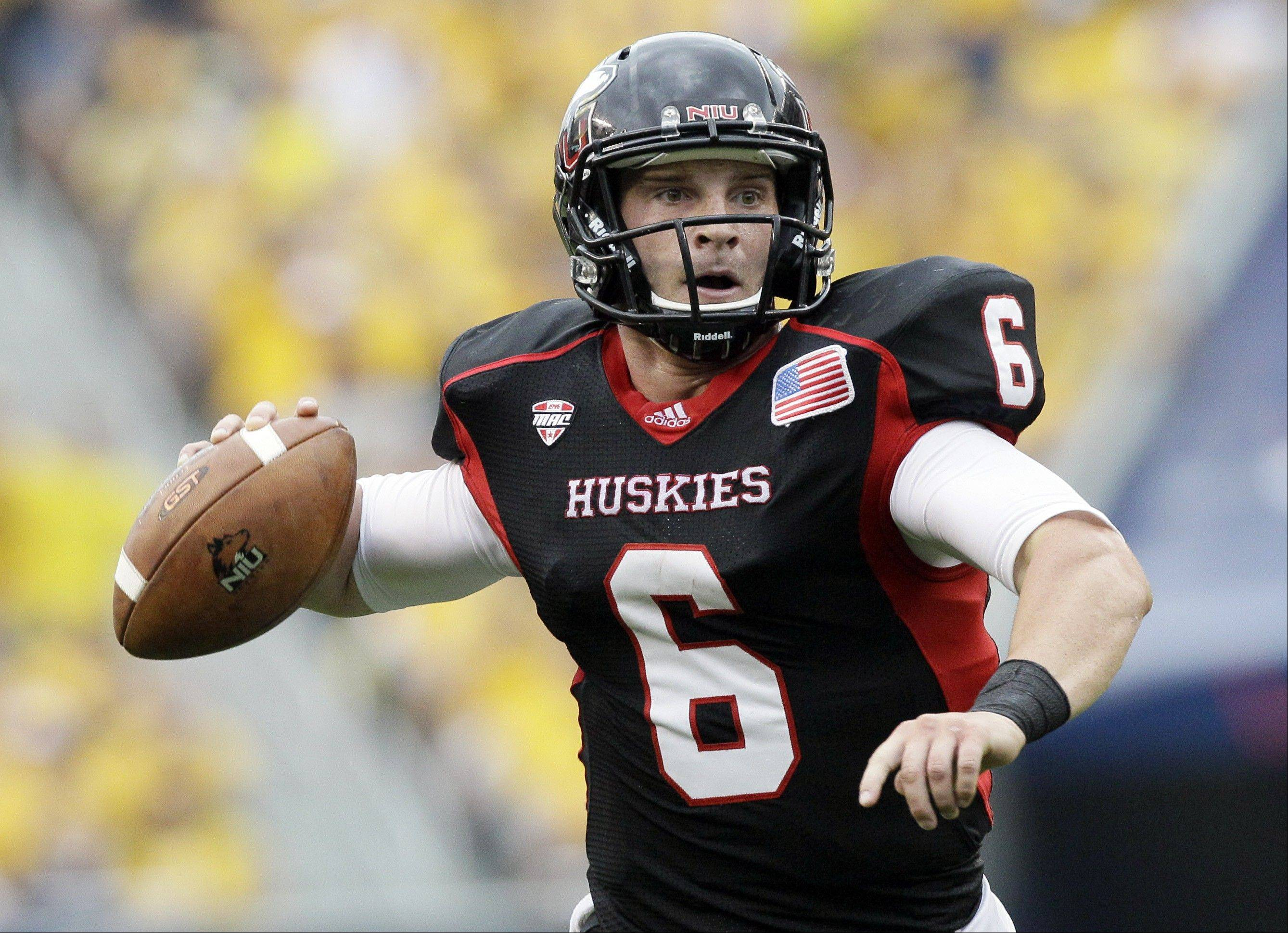 Northern Illinois quarterback Jordan Lynch looks to a pass against Iowa at Soldier Field. Since rejoining the MAC in 1997 the Huskies have dropped 11 of 15 to Toledo, including eight straight from '97 to '04.