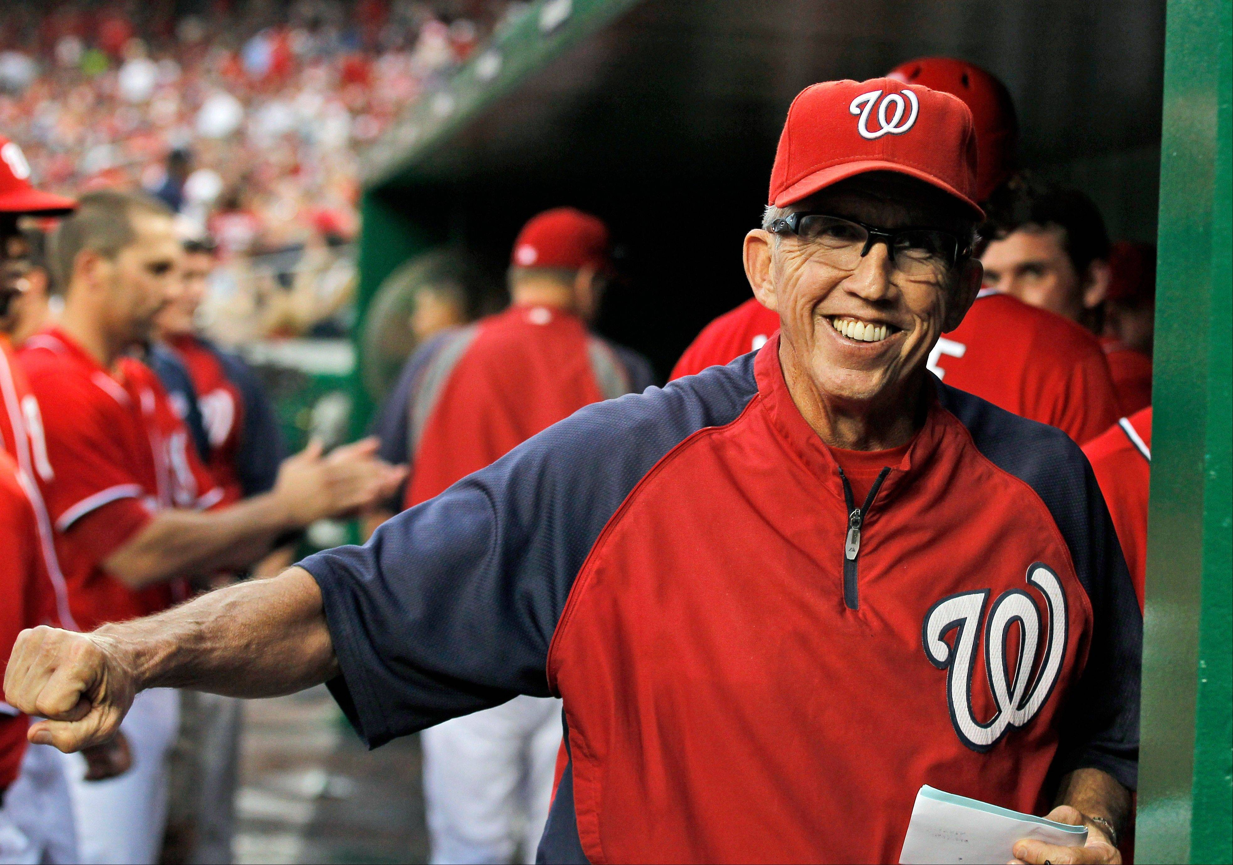 Washington Nationals manager Davey Johnson was voted as the National League Manager of the Year on Tuesday.