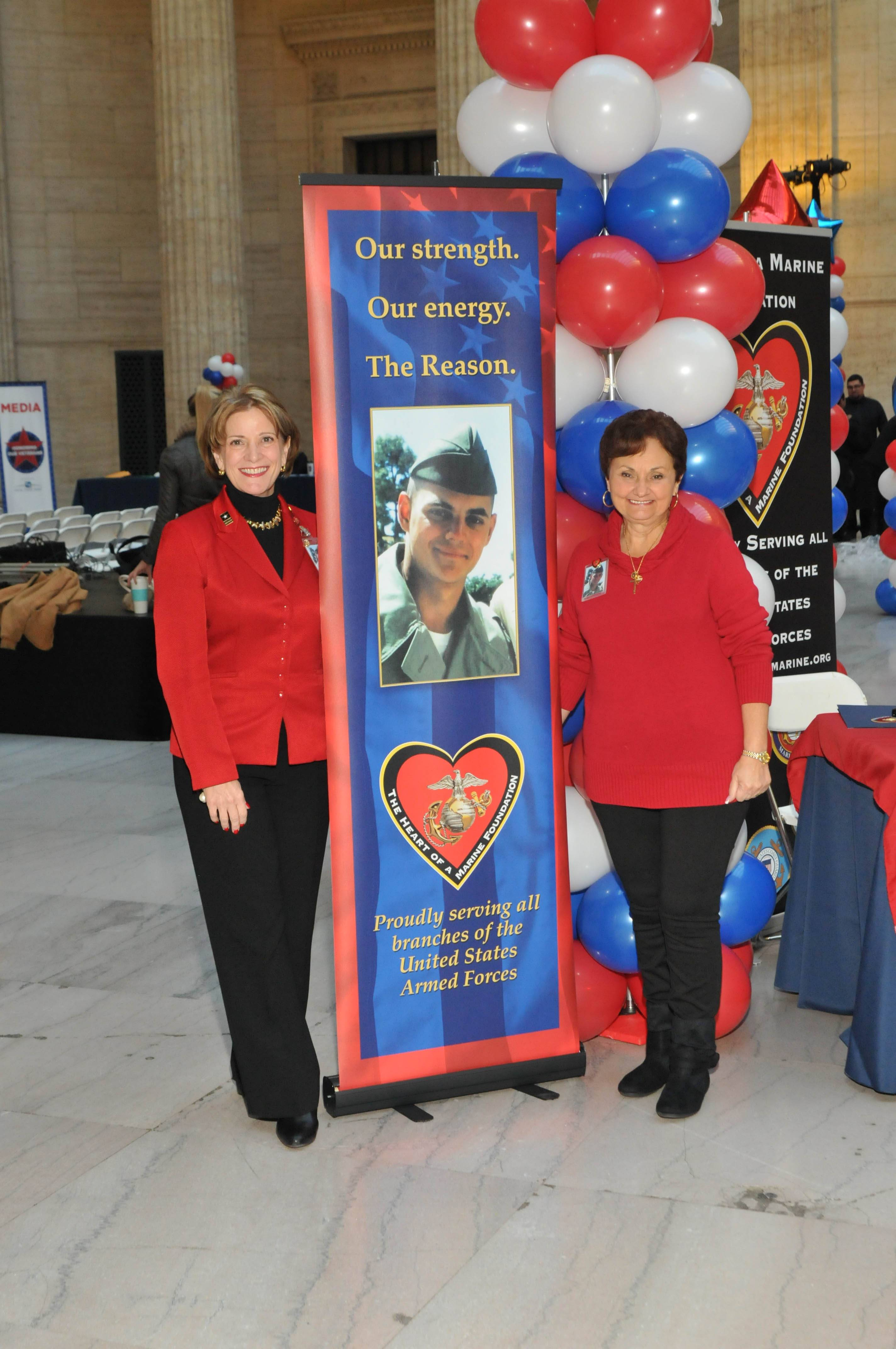 Barbara Matsukes and Georgette Frank, Heart of a Marine Foundation