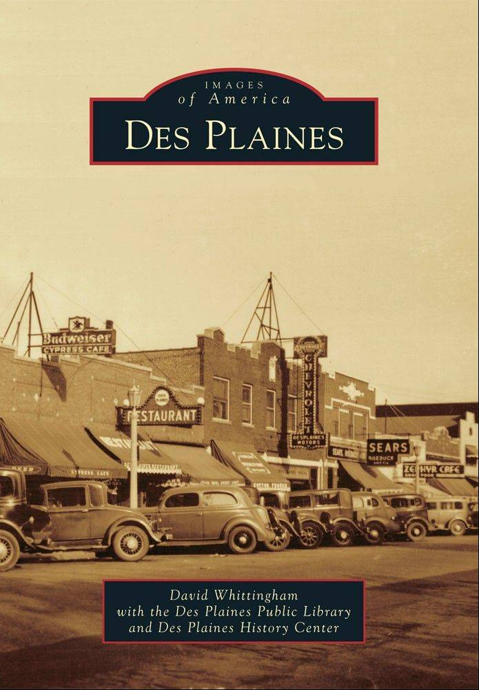 This is the cover image of a new historical pictorial book about Des Plaines.
