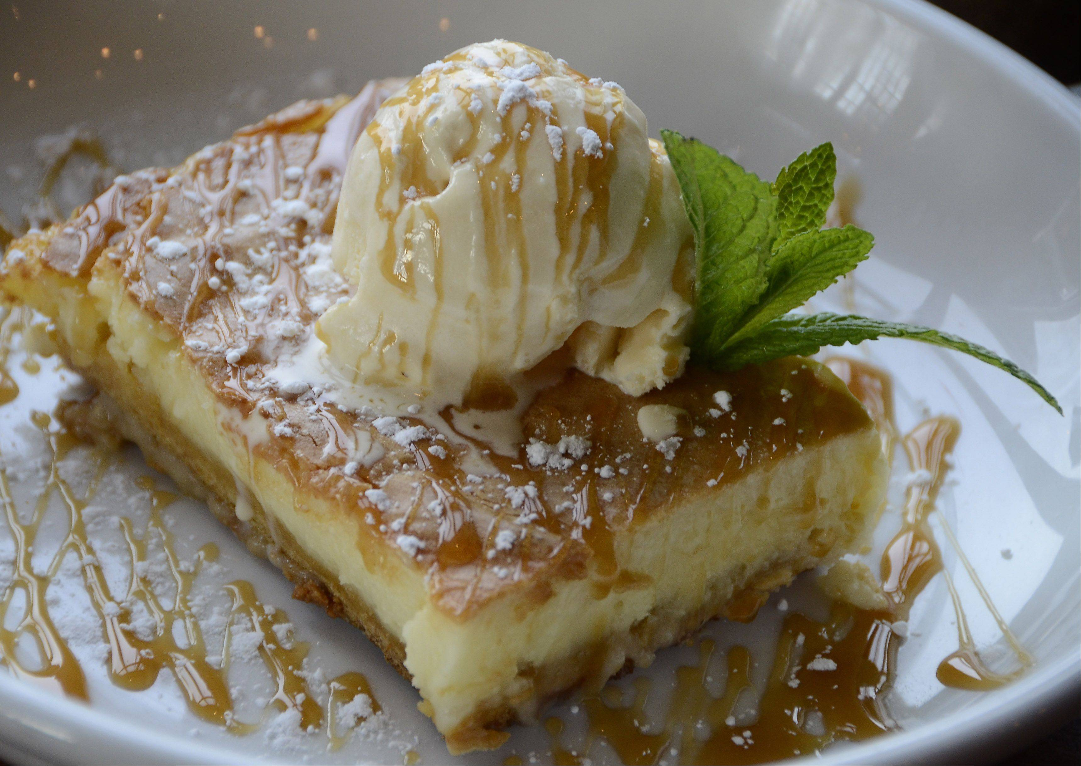 Save room for Park Tavern's ooey-gooey butter cake.
