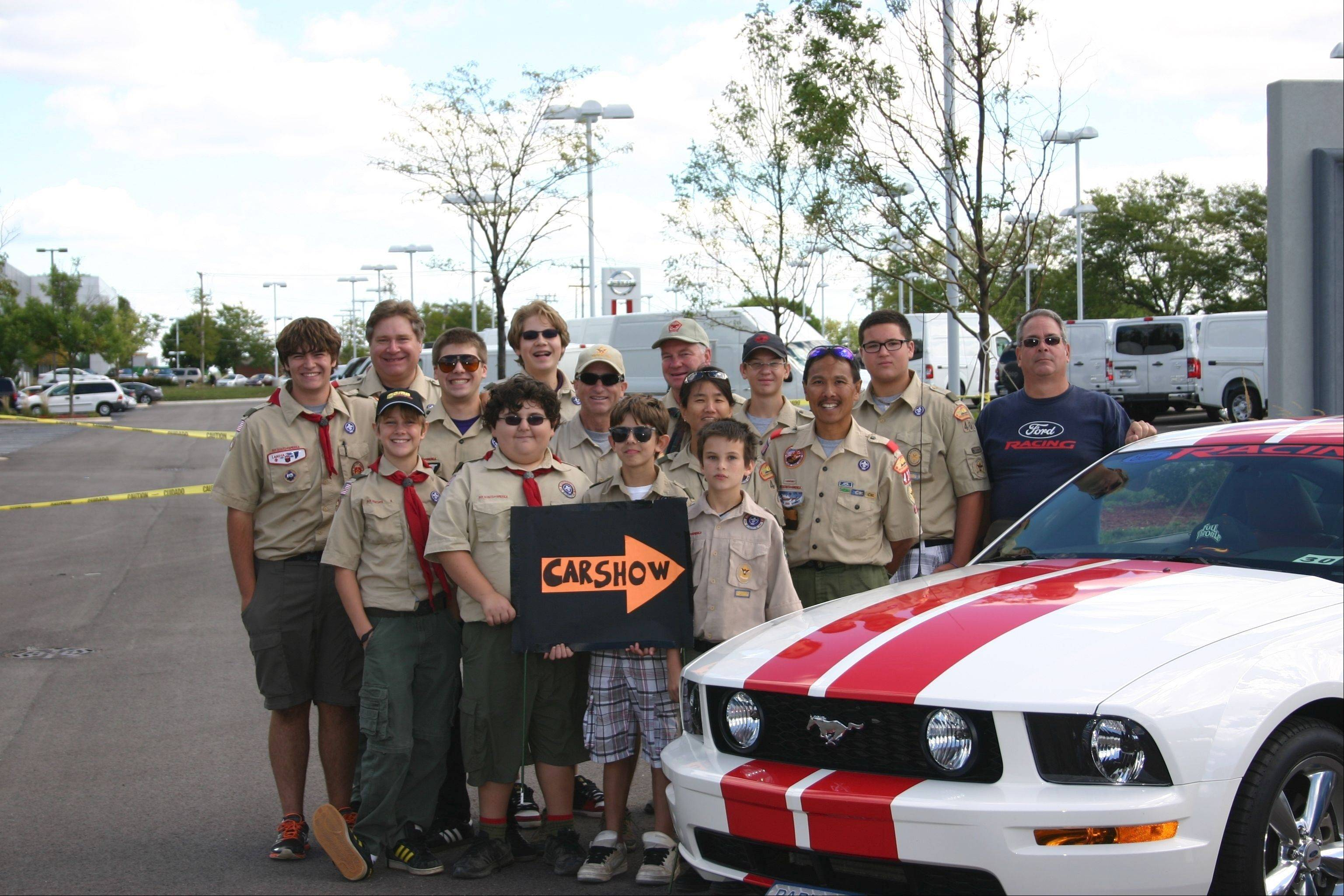 Volunteers from Boy Scout Troop 401, Buffalo Grove, helped to make Kevin MacDonald's Eagle Scout Car Show/Food Drive a huge success. The event netted over 800 food items and $300 for the St. Edna Food Pantry.
