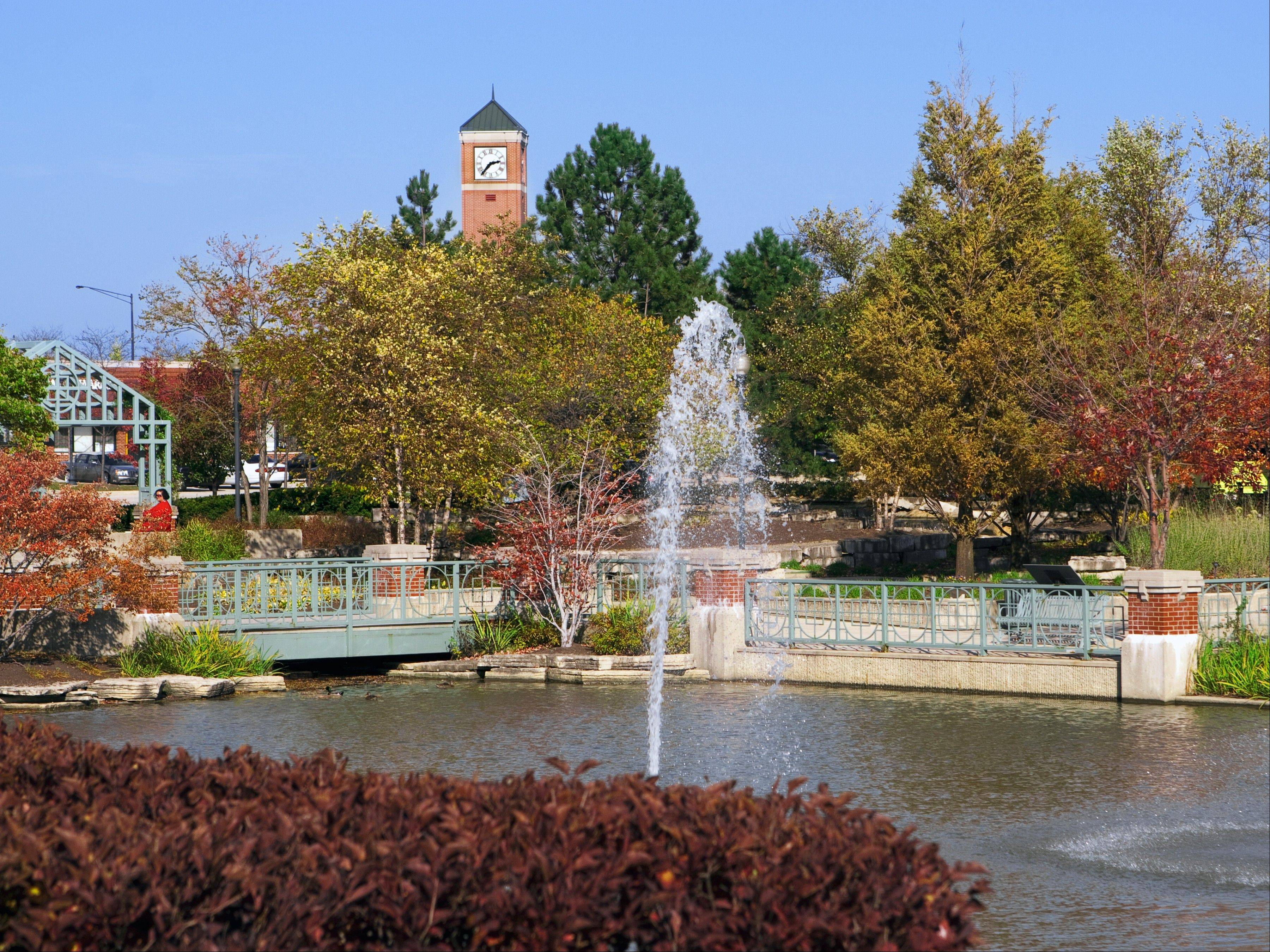 This photo of Schaumburg�s Town Square at Schaumburg and Roselle roads in early autumn, taken by the village�s Production Supervisor Rob Pileckis, will be featured in the National League of Cities� 2013 calendar for September.