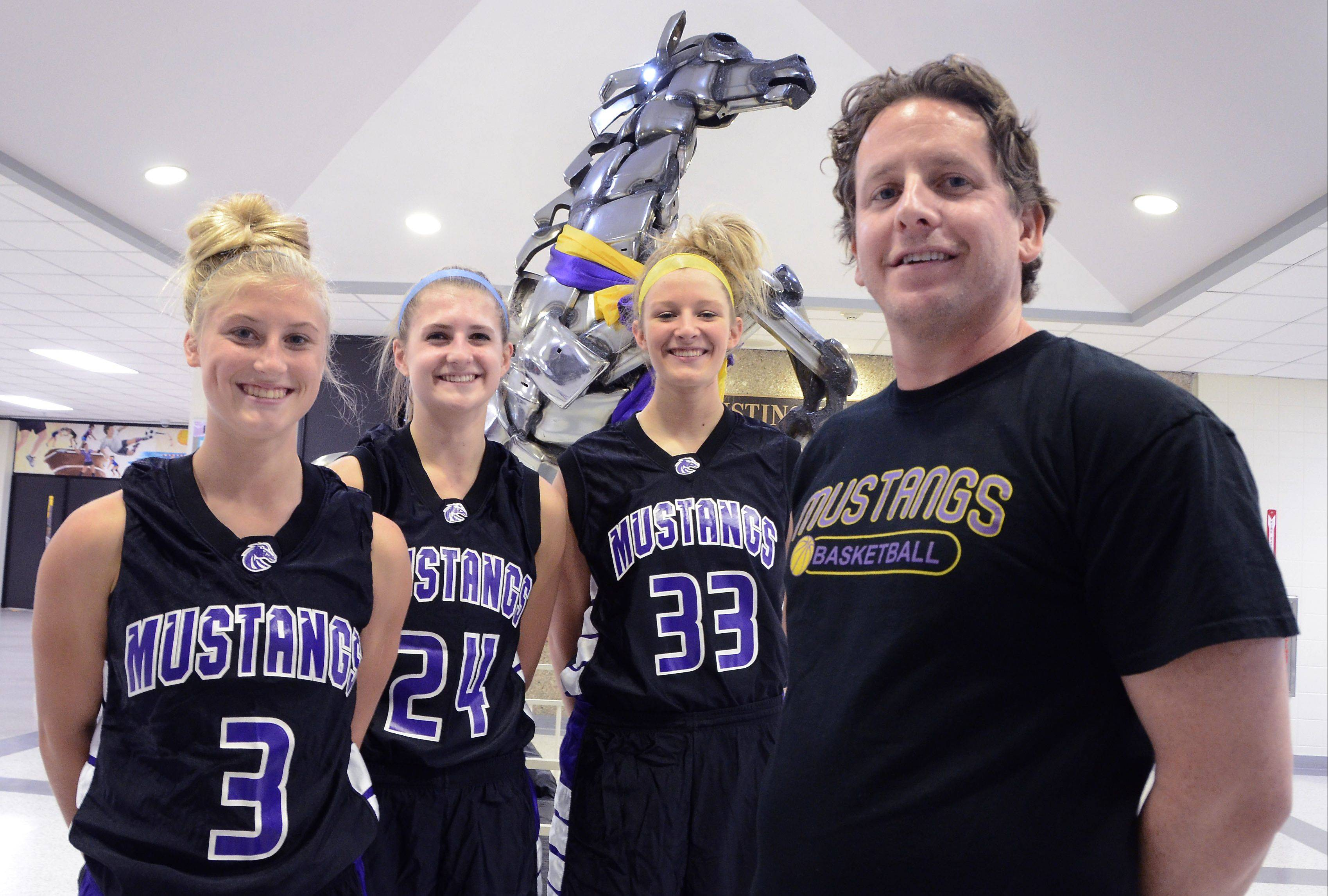 Jackie Kemph, Alexis Glasgow and Jenny Vliet, all juniors drawing attention from NCAA Division I programs, have a new coach who until recently was trying to figure out how to defeat them, Ryan Kirkorsky.