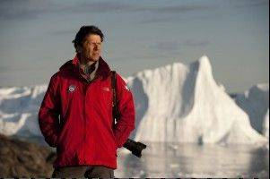 "National Geographic photographer James Balog surveys the state of a vanishing glacier in Greenland during the shooting of ""Chasing Ice."""