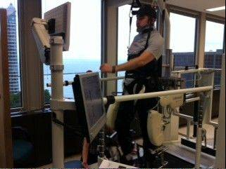 Sgt. Daniel Tsutsumi of Arlington Heights is relearning to walk after an accident left him paralyzed.