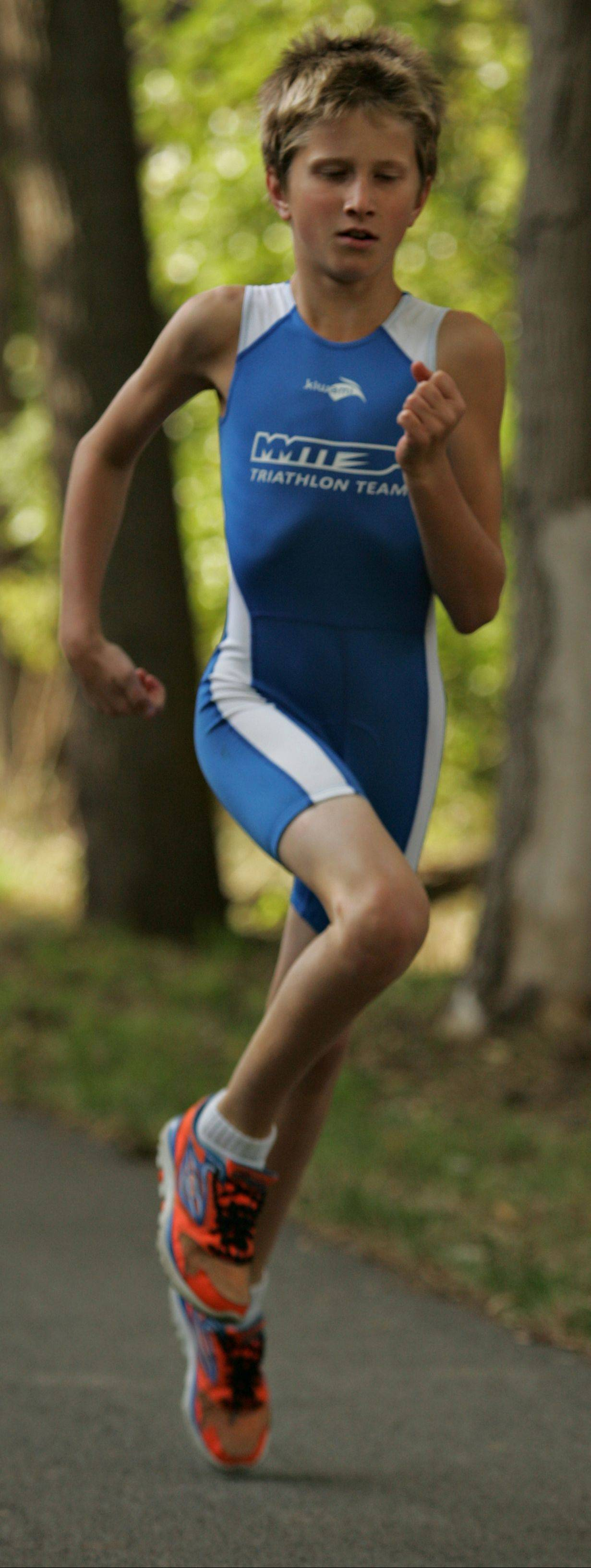 Of the three disciplines involved in a triathlon, Justin says running is his favorite.