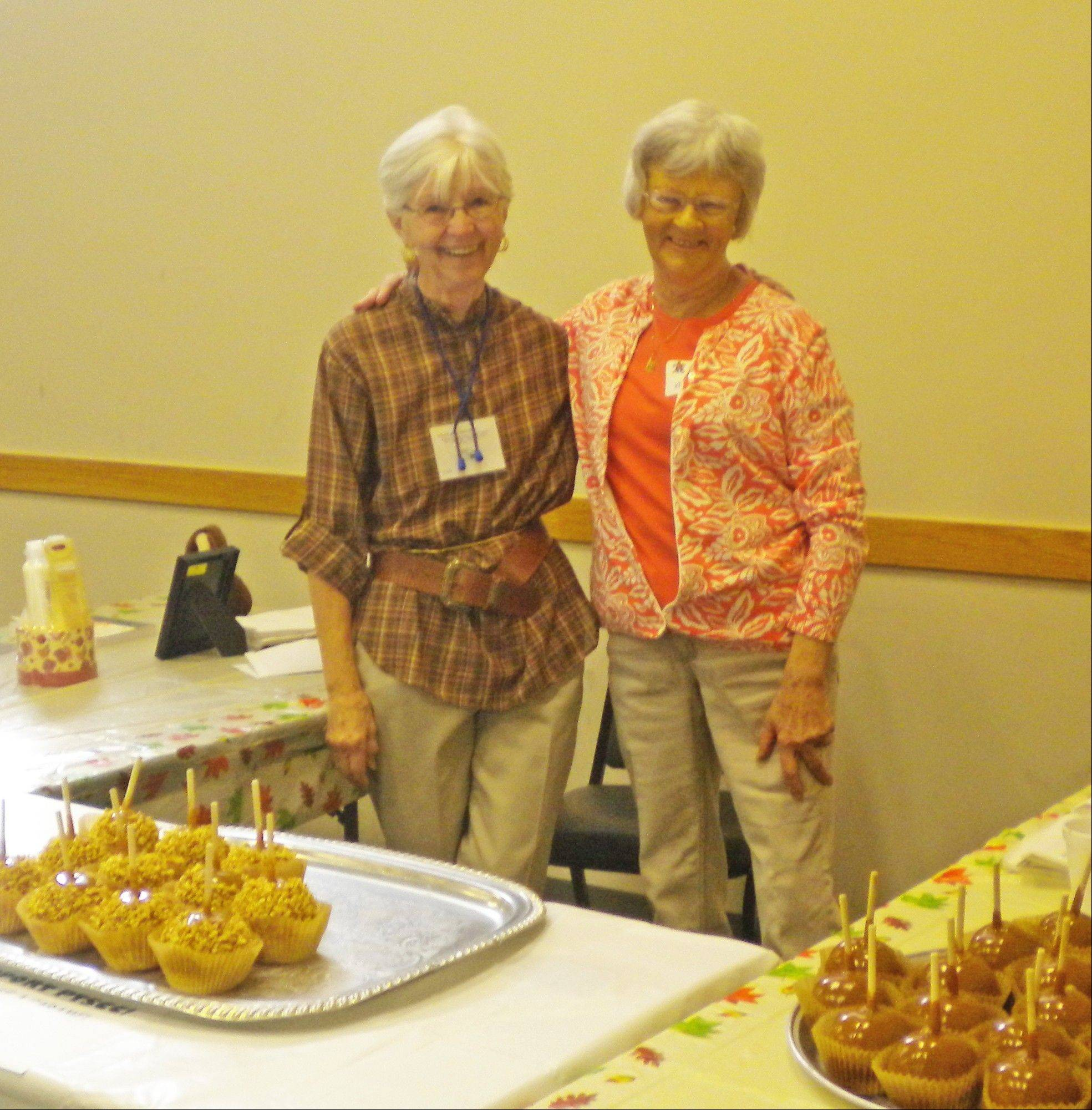 Seniors enjoyed free doughnuts and apple cider along with delicious caramel apples from Morkes Chocolates at Palatine Township Senior Center's Fall Festival Oct. 1.
