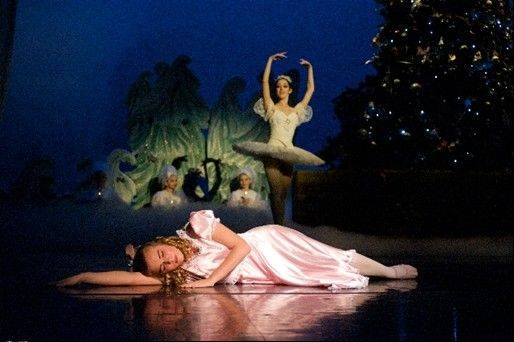 "In her magical dream, Clara has been transported to the Land of Snow during Barrington Youth Dance Ensemble's 2011 production of ""The Nutcracker."""