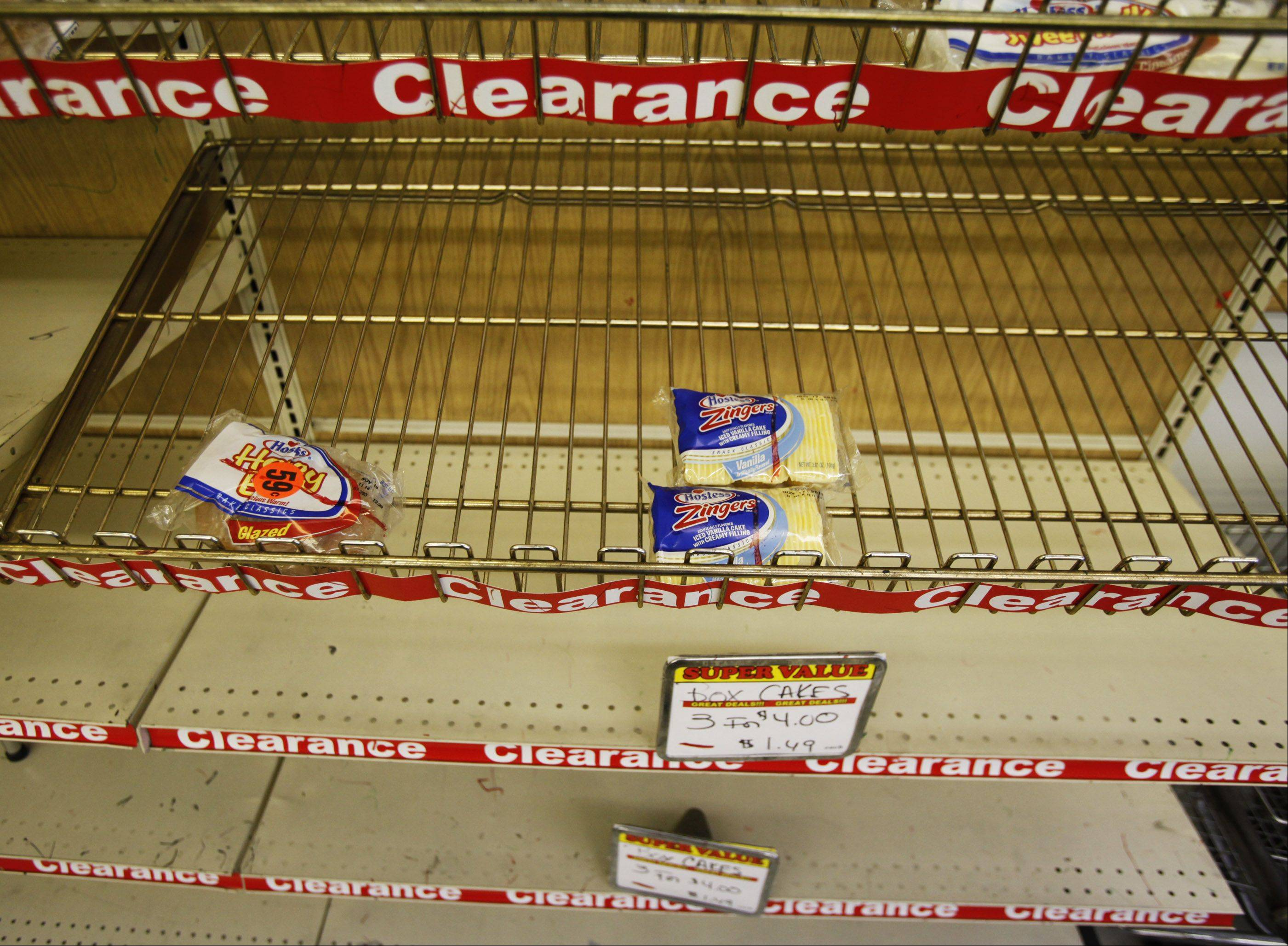 Wonder Hostess Thrift Shop racks were cleaned out quickly, especially for their top-selling items like Zingers and Twinkies.