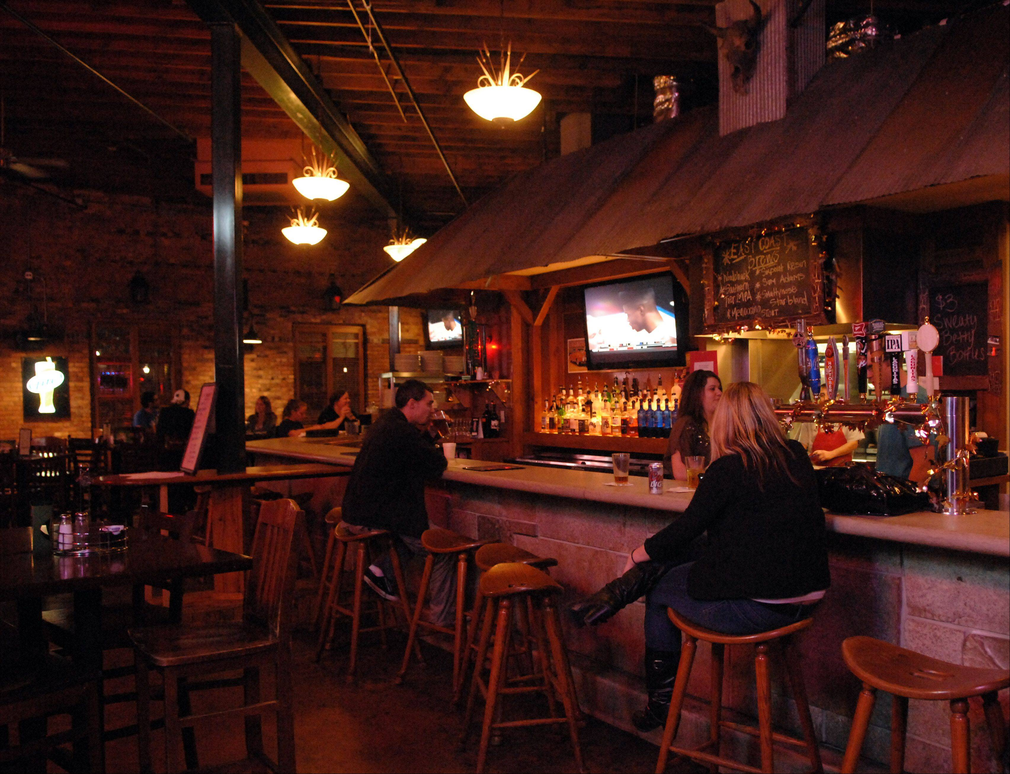Prairie Rock Bar & Grill serves up a rotating selection of brews.