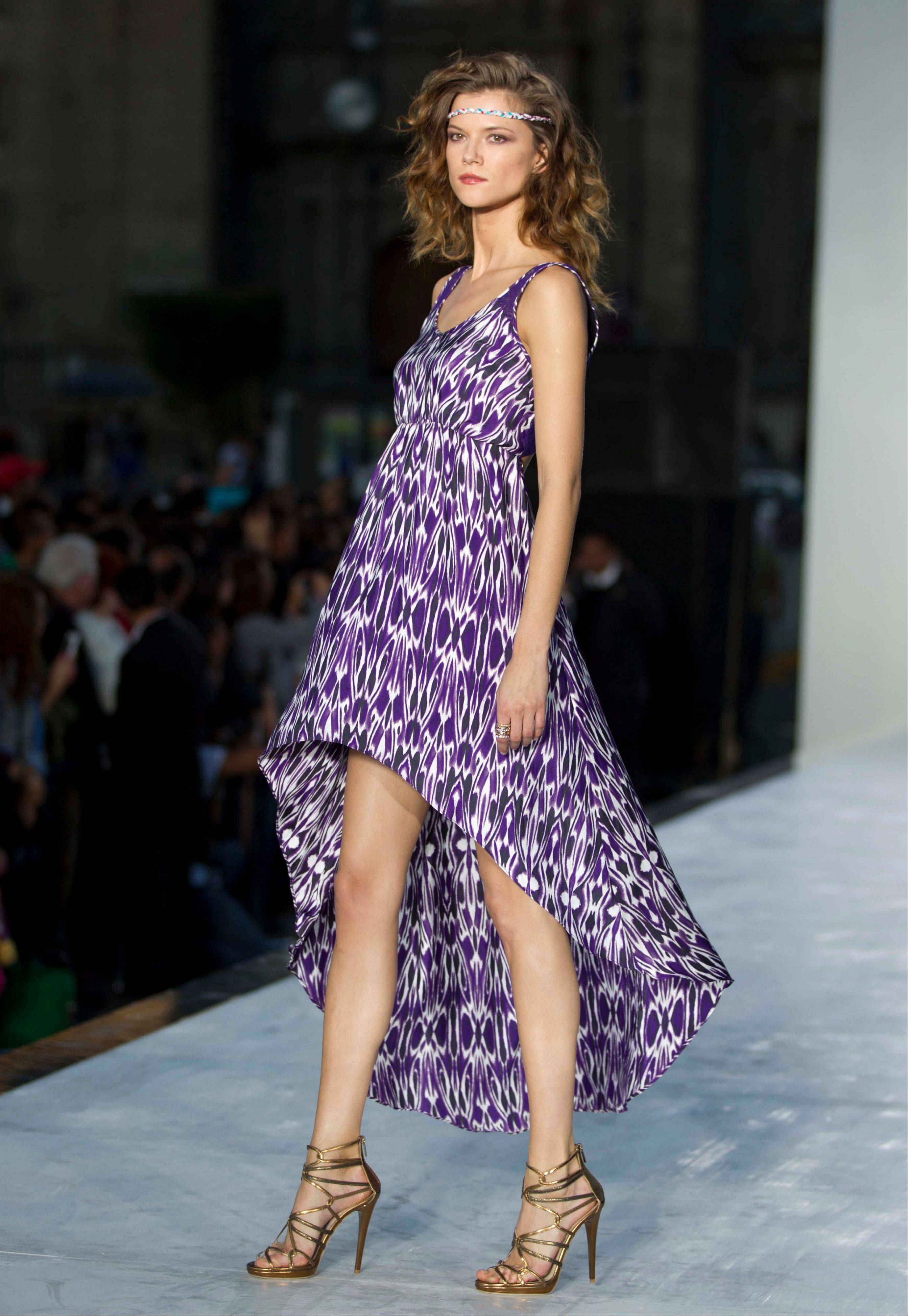 Associated Press A model walks in Mexico City on the final day of the Mercedes Benz Fashion Week.