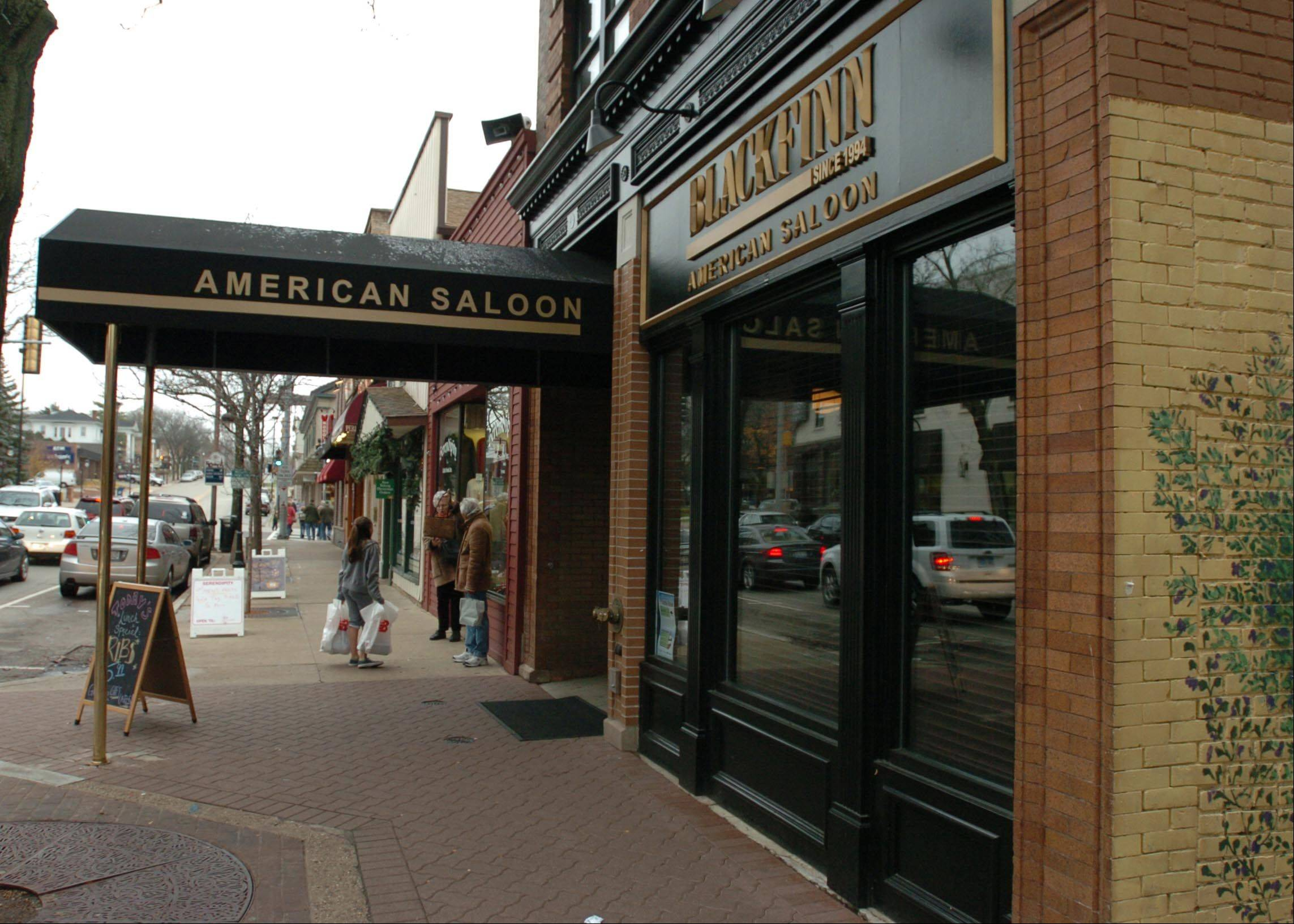 BlackFinn American Saloon in Naperville normally stays open to 1 a.m. Friday nights and 2 a.m. on weekends, but its liquor license has been suspended after a two-week investigation and it will close at 11 tonight.