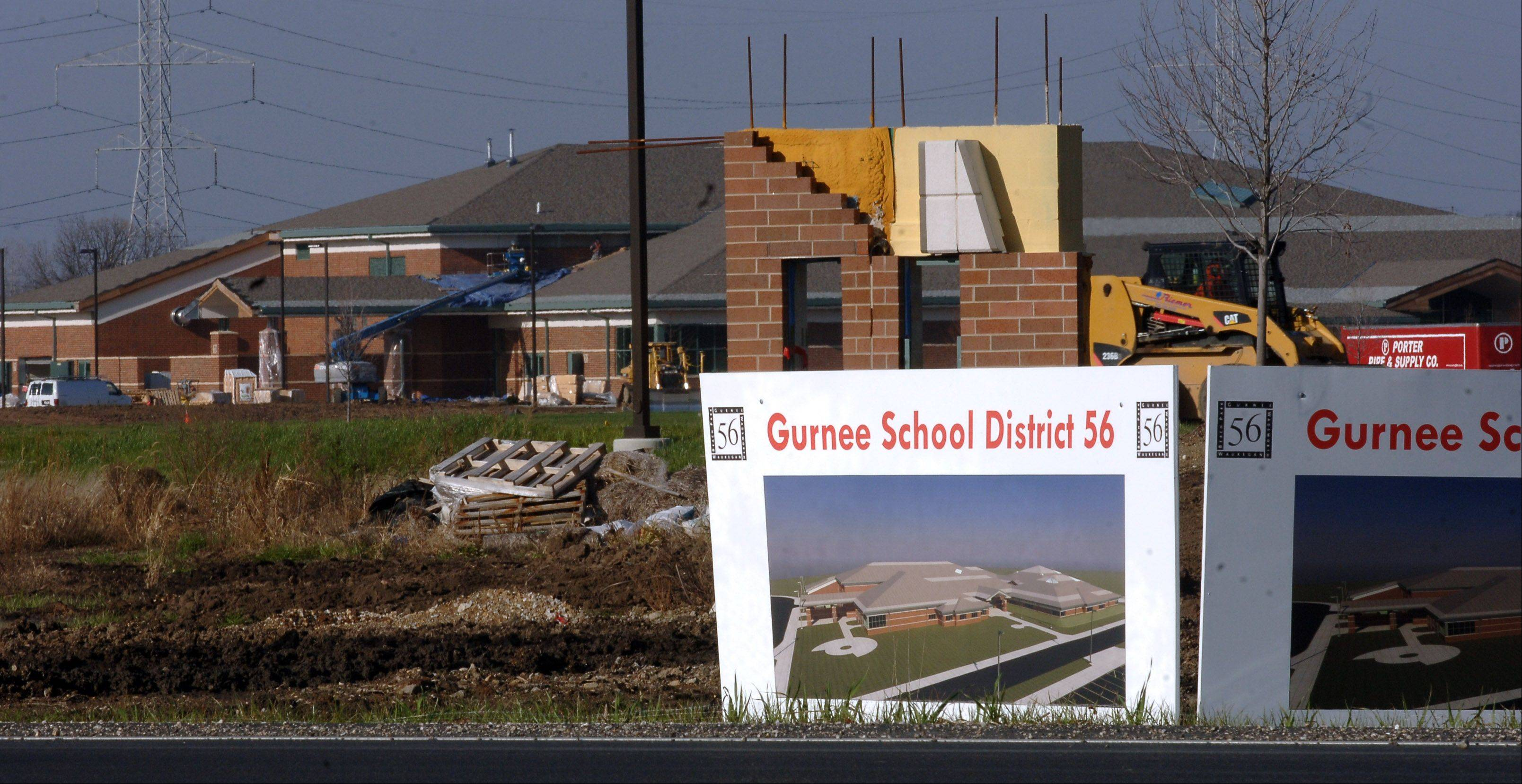 Gurnee Elementary District 56�s new Prairie Trail School in Wadsworth remains on target for a January debut.