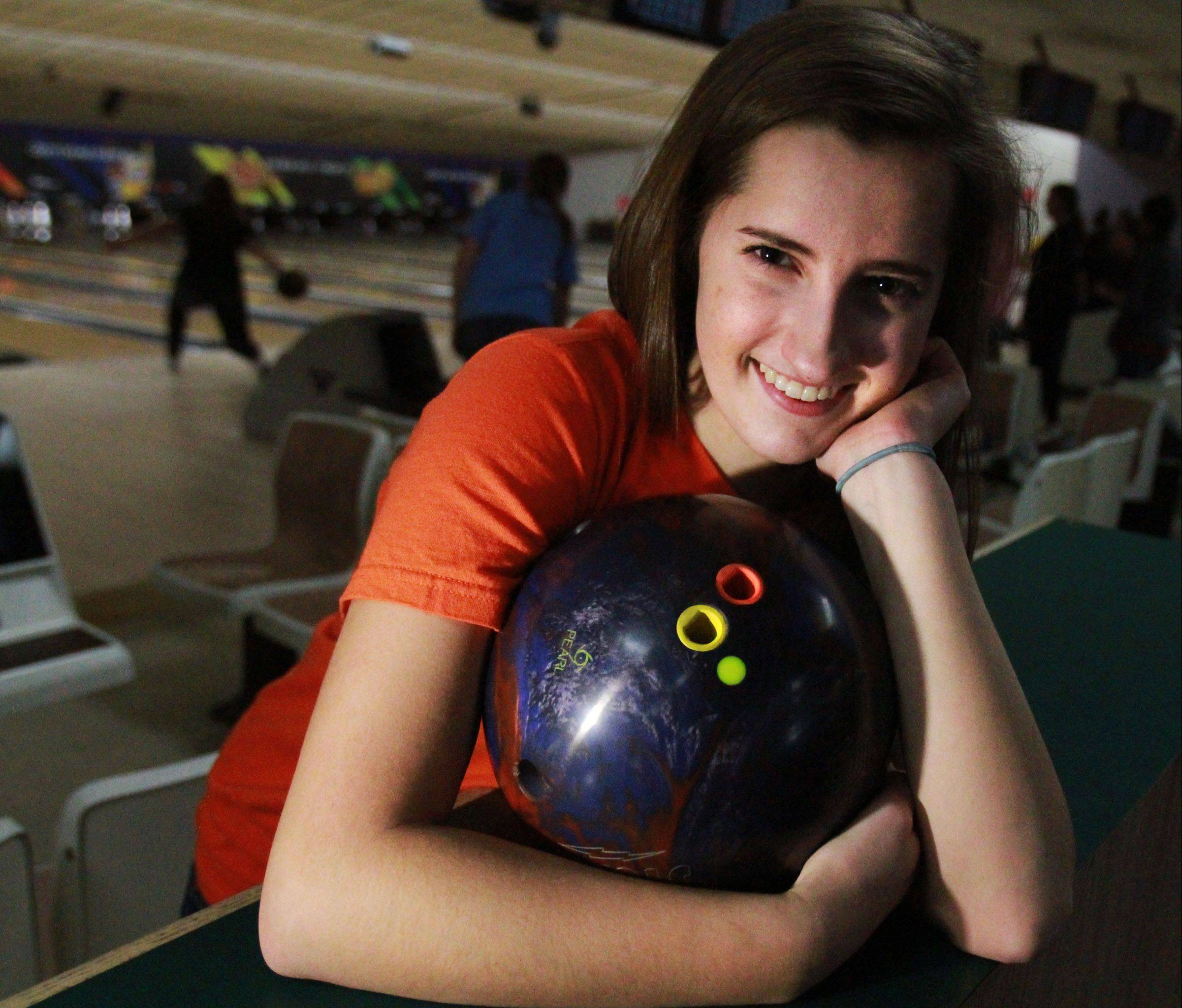 Sarah Wille aims to make it another great season for Hoffman Estates' girls bowling team.