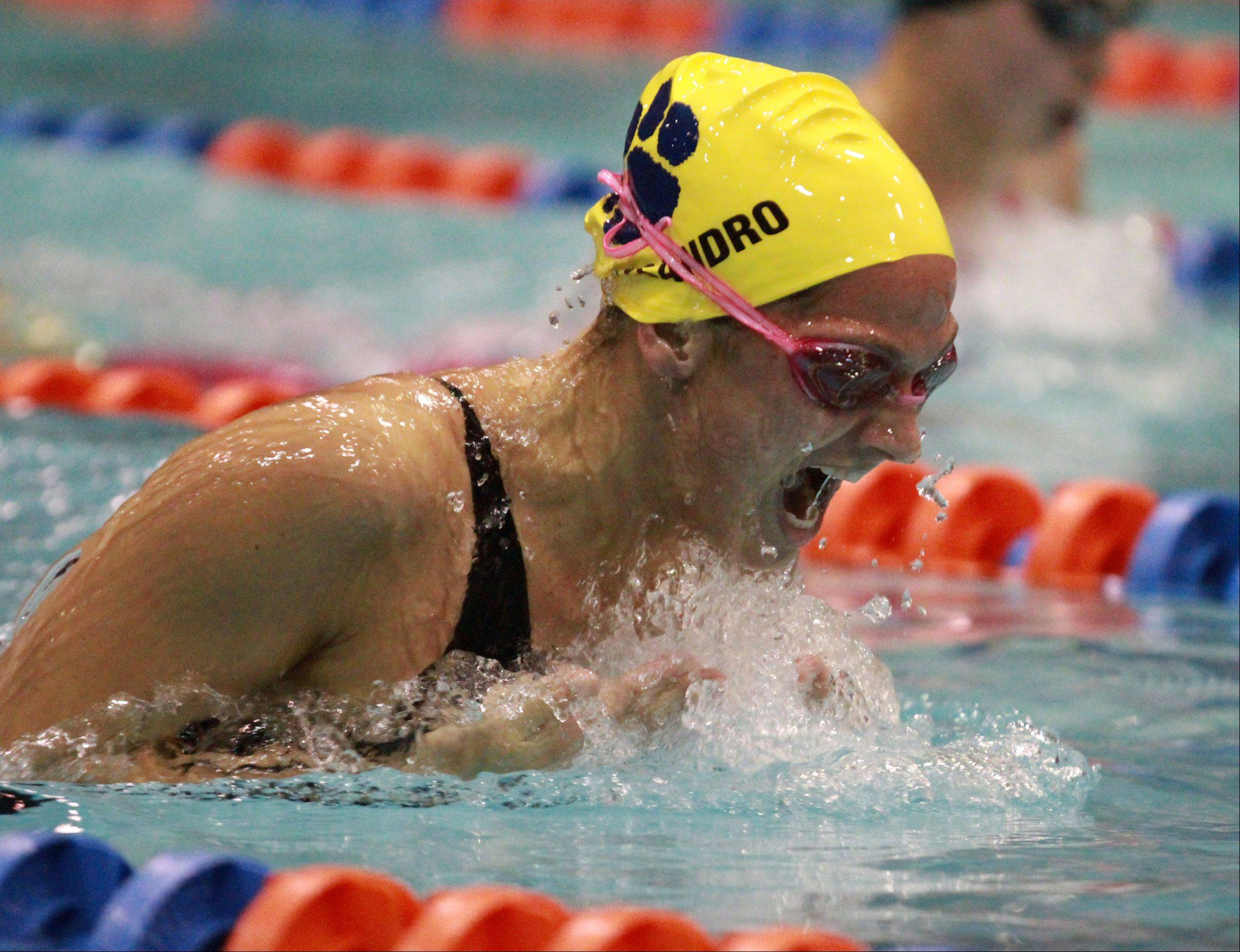 Gia Dalesandro of Neuqua Valley finished second in the prelims of the 200-yard individual medley.